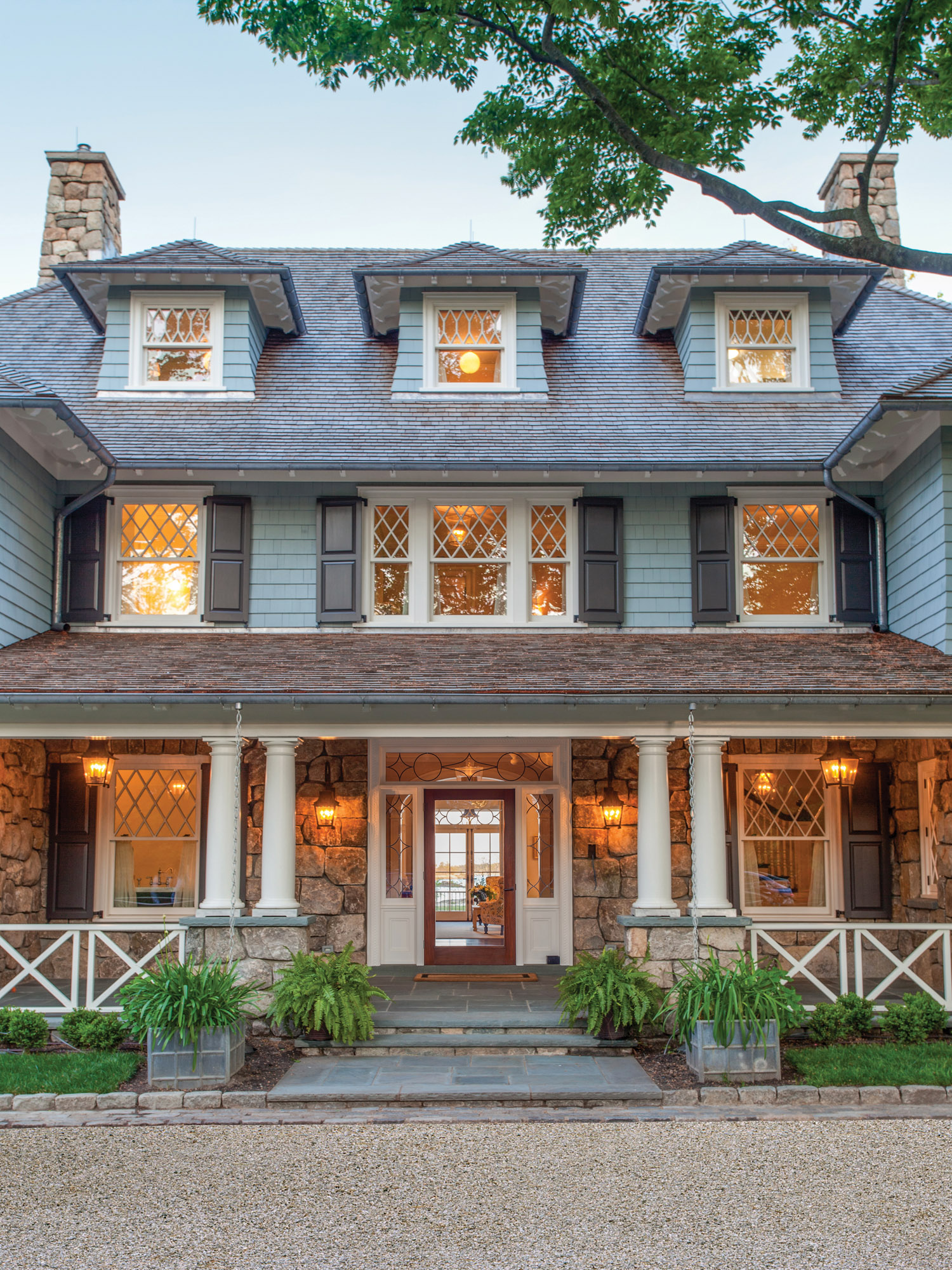 New Old Stone & Shingle Home
