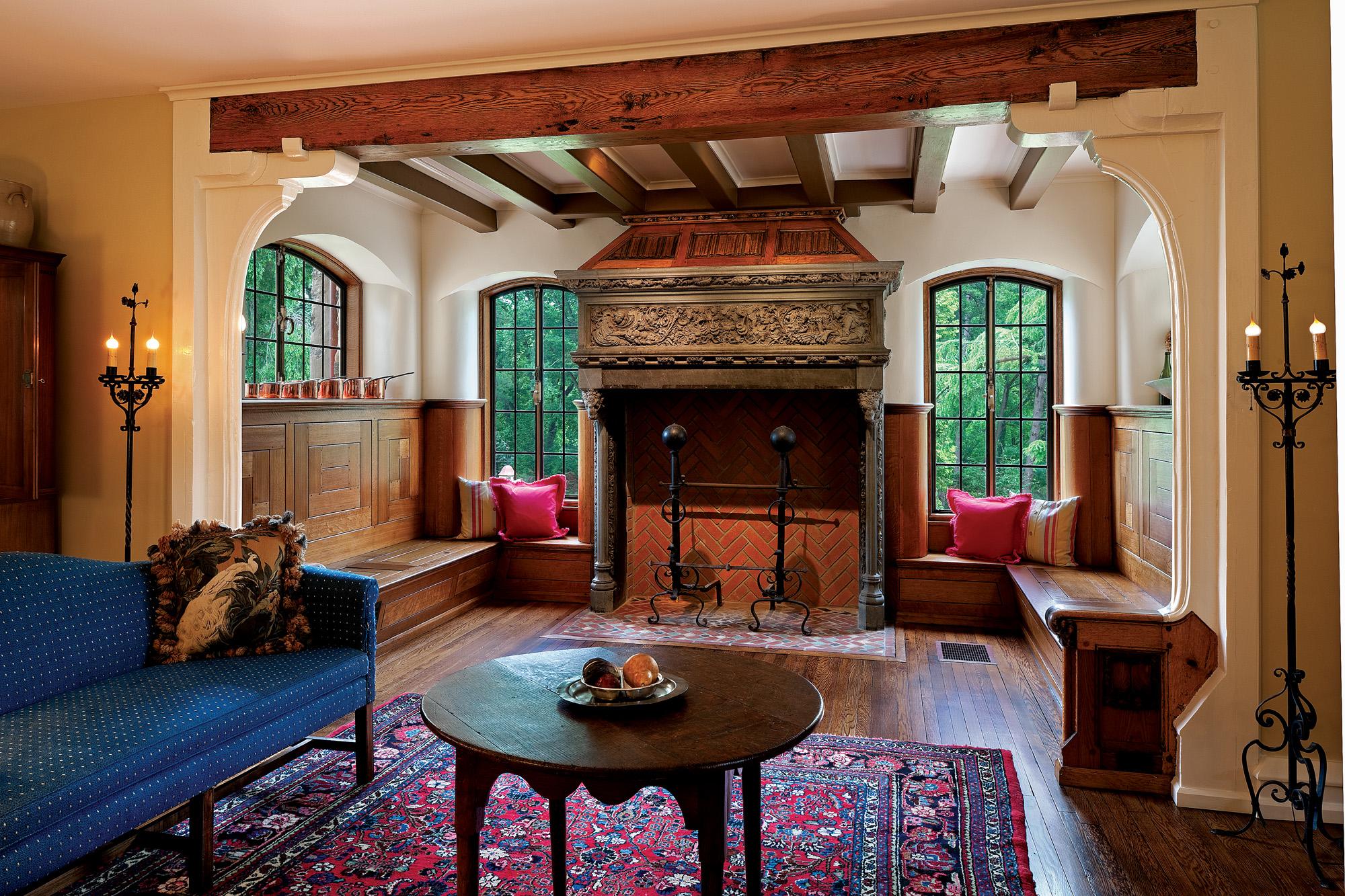 arts & crafts fireplace