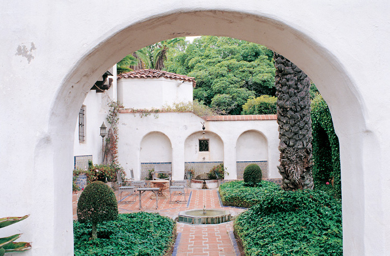Casa del Herrero (1925) is a Spanish-style vision, complete with a Moorish garden.