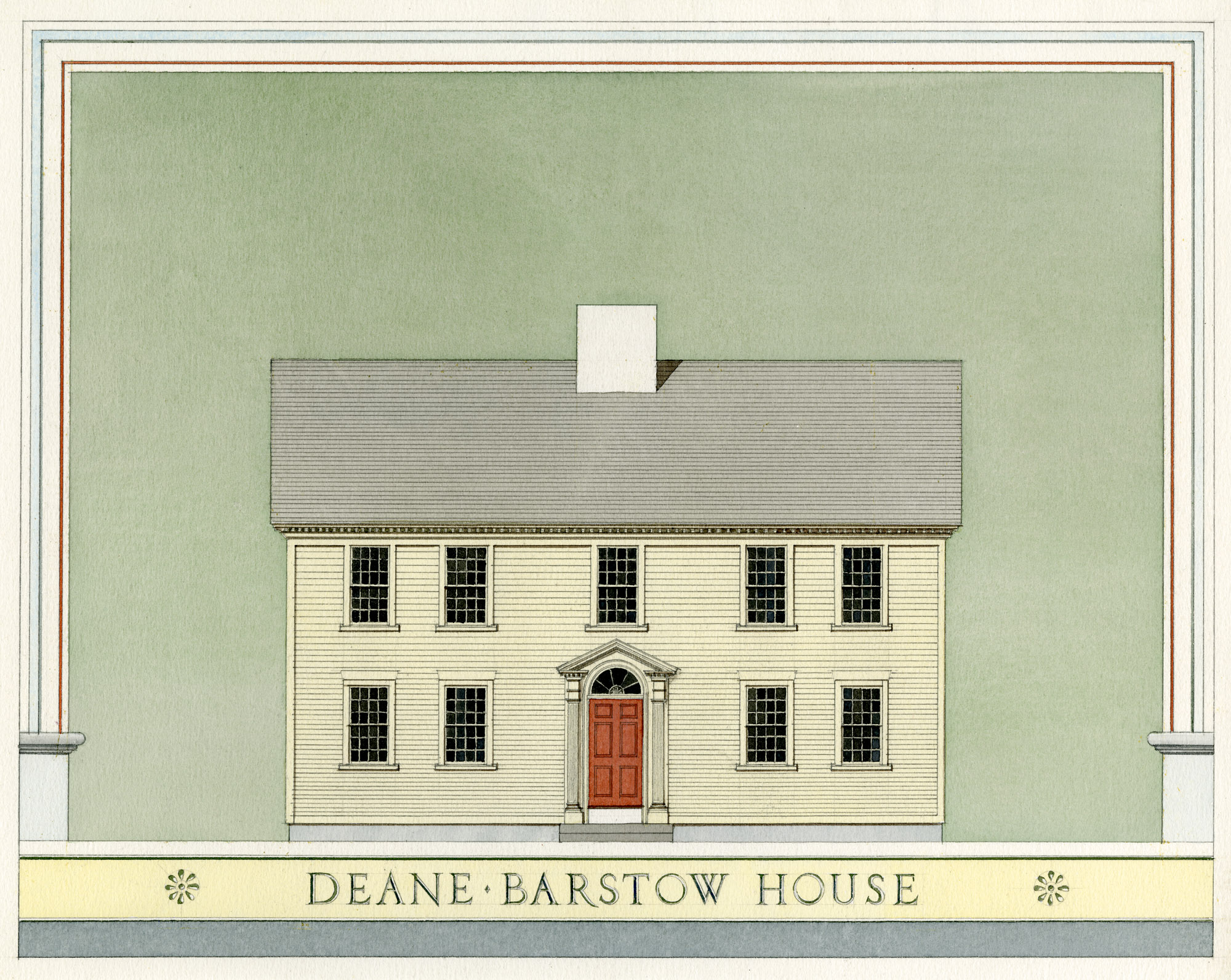 Colonial home illustration