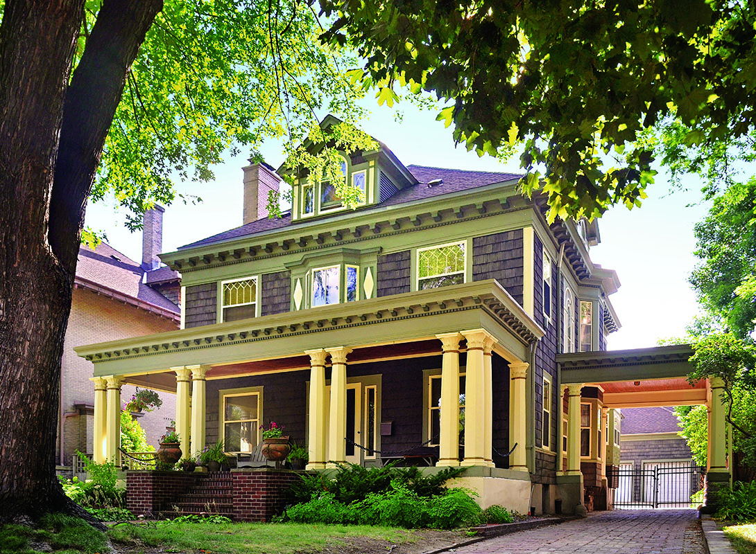 American Foursquare Architecture Interiors Restoration Design For The Vintage House Old
