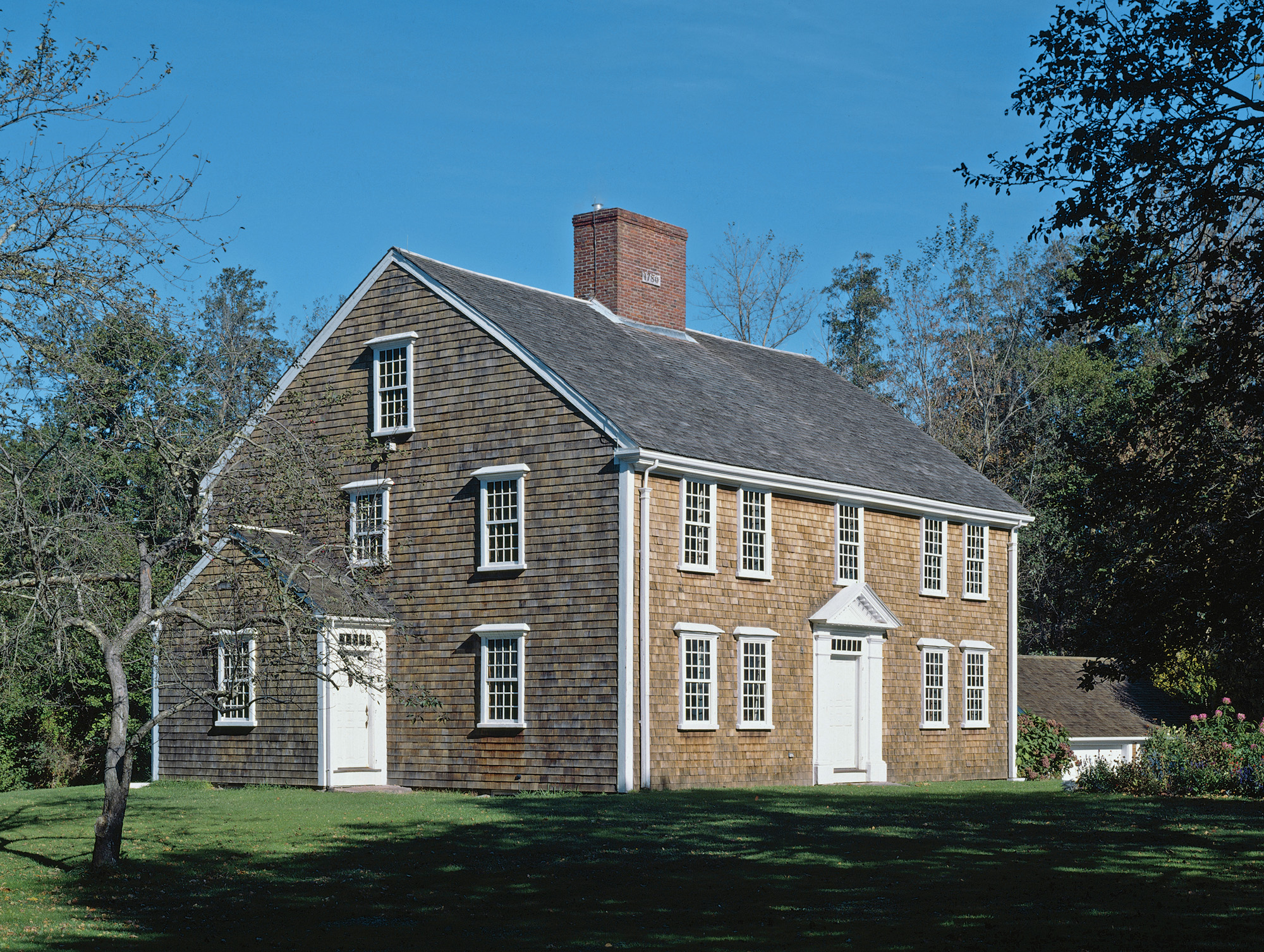 Grand for its time and place, the house was built in West Barnstable around 1780 by Crocker, a trader and land speculator.