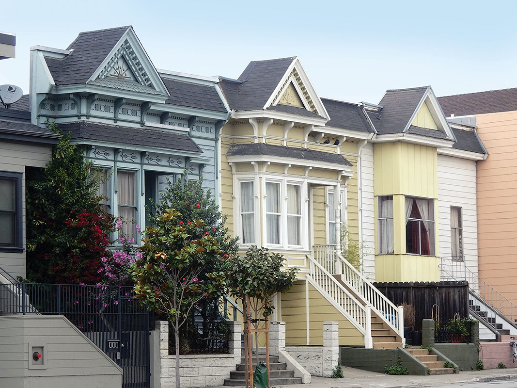 Don't buy a row house if you can't play nice with others. Few things are as pleasing, or more neighborhood-defining, as an unbroken row of façades. When one is so changed, the street- scape is scarred.