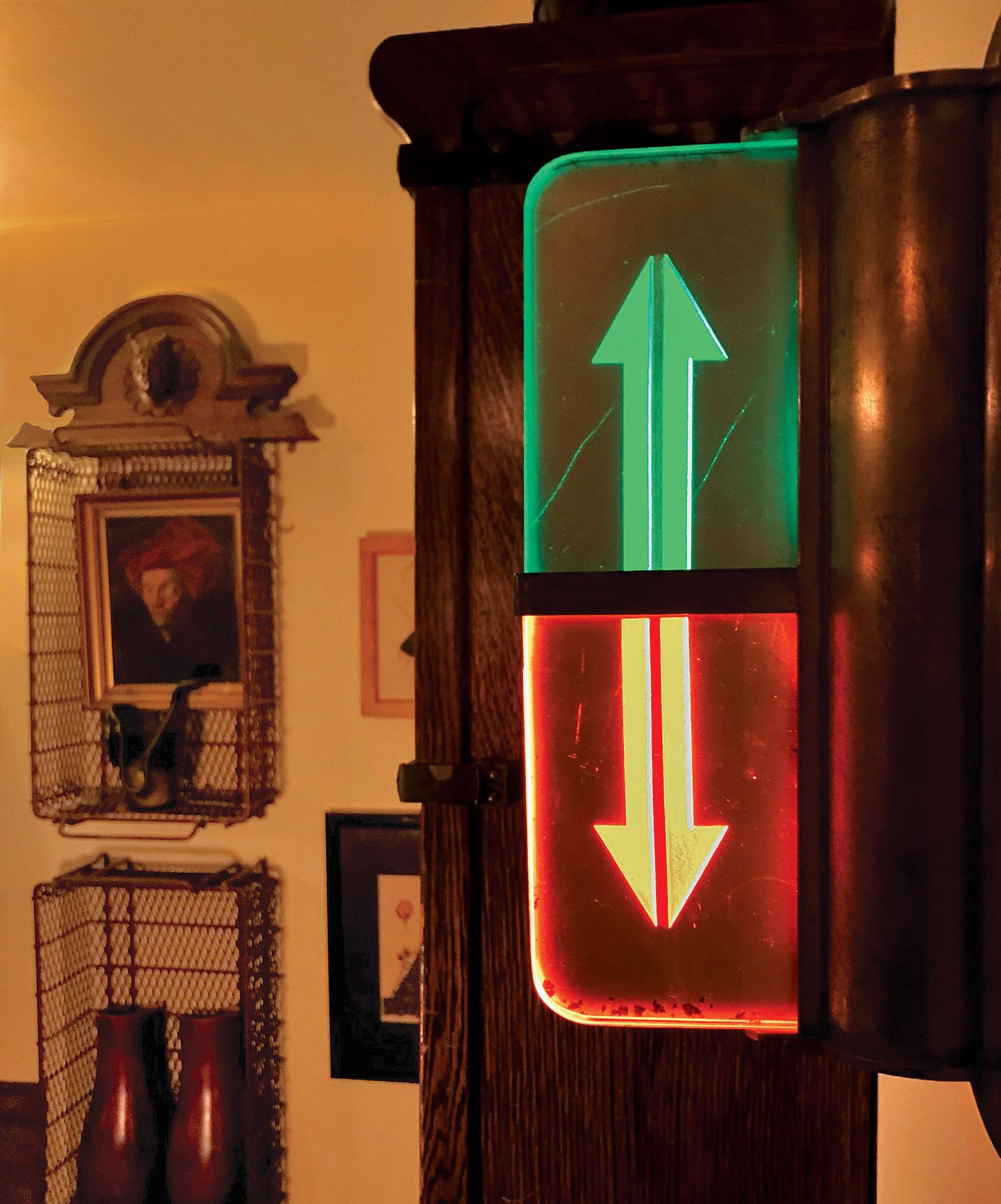 repurposed elevator indicator light