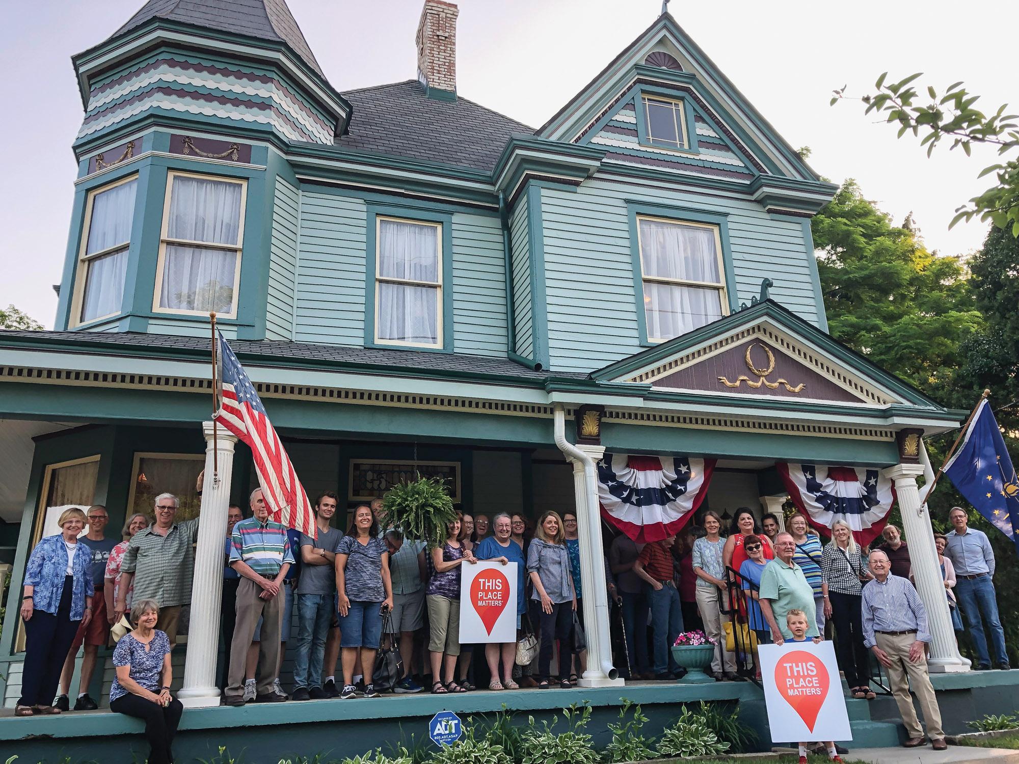 restored Victorian house