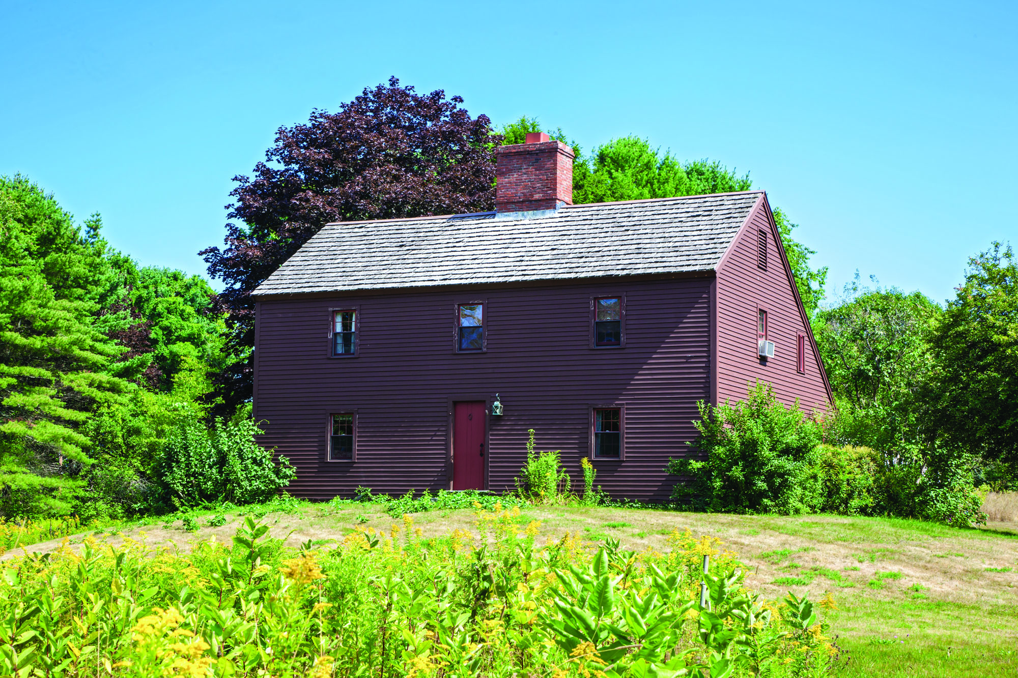 The house was built by a couple of ardent preservationists, who used the 1715 Sedgley House in York, Maine, as their model.
