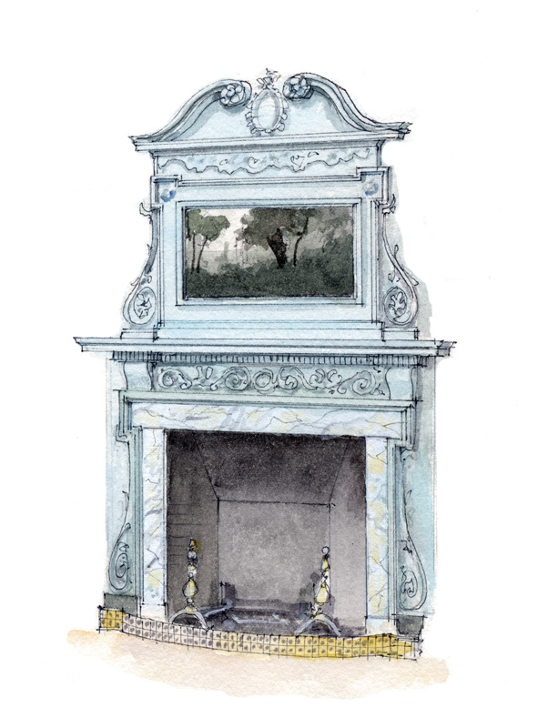 1. Georgian fireplace (All illustrations: Rob Leanna)