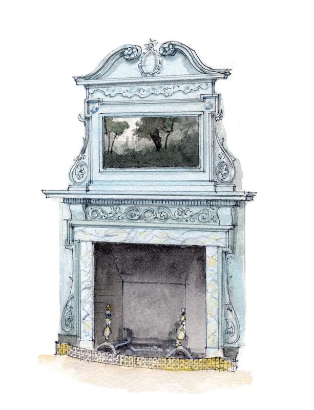 1. Georgian fireplace (All illustrations: Rob Leanna)