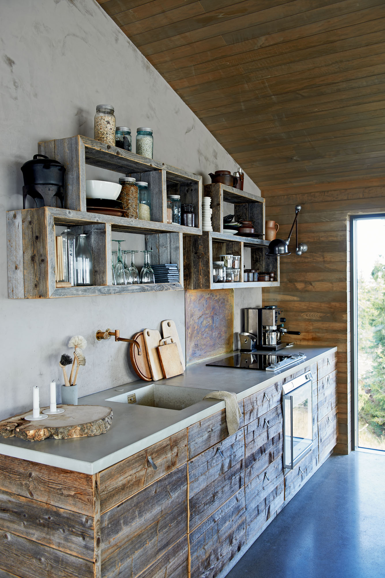 Kitchen with reclaimed wood
