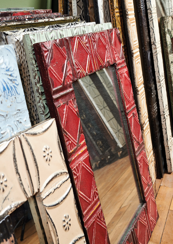 tin ceiling panels, salvage