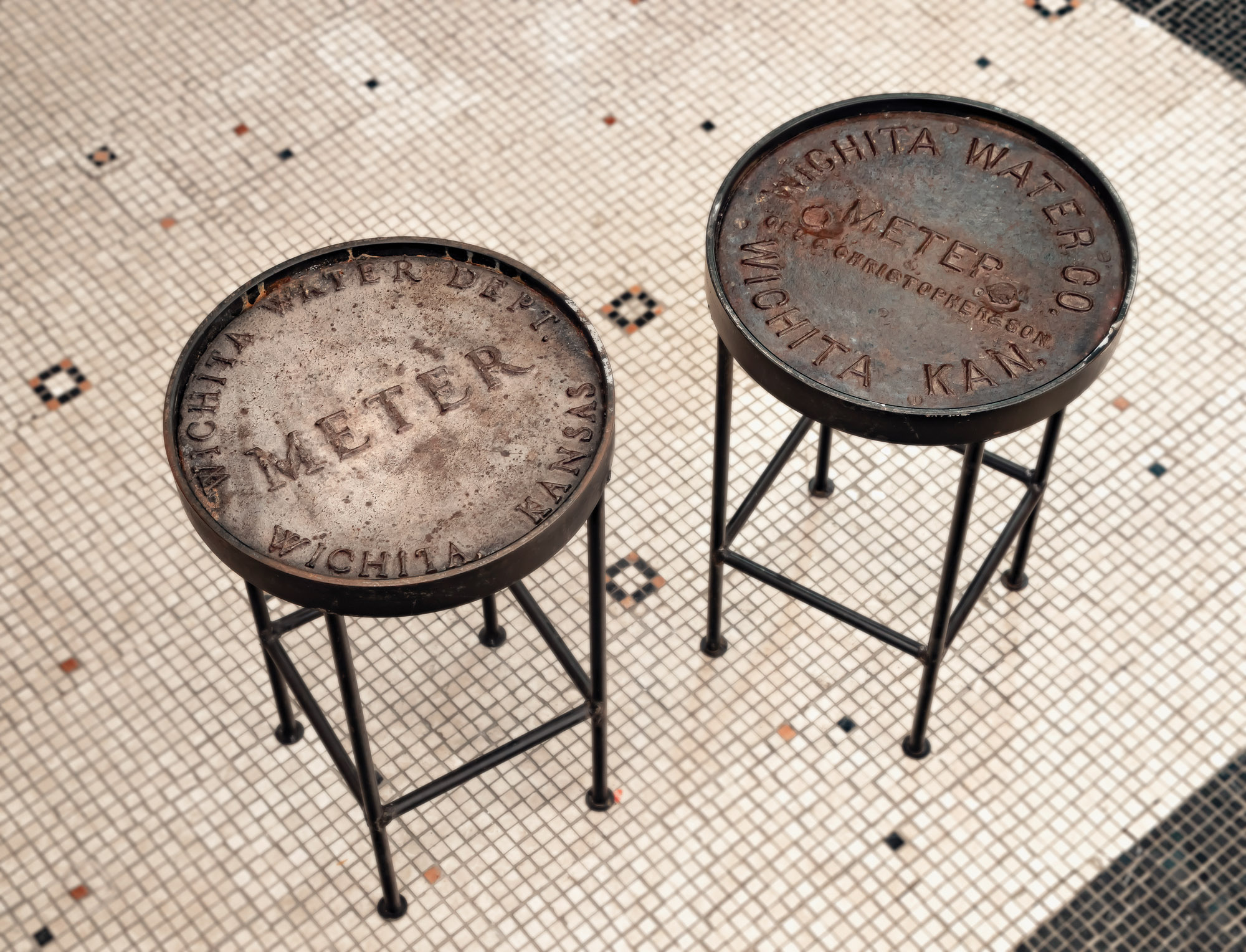 water-meter cover stools
