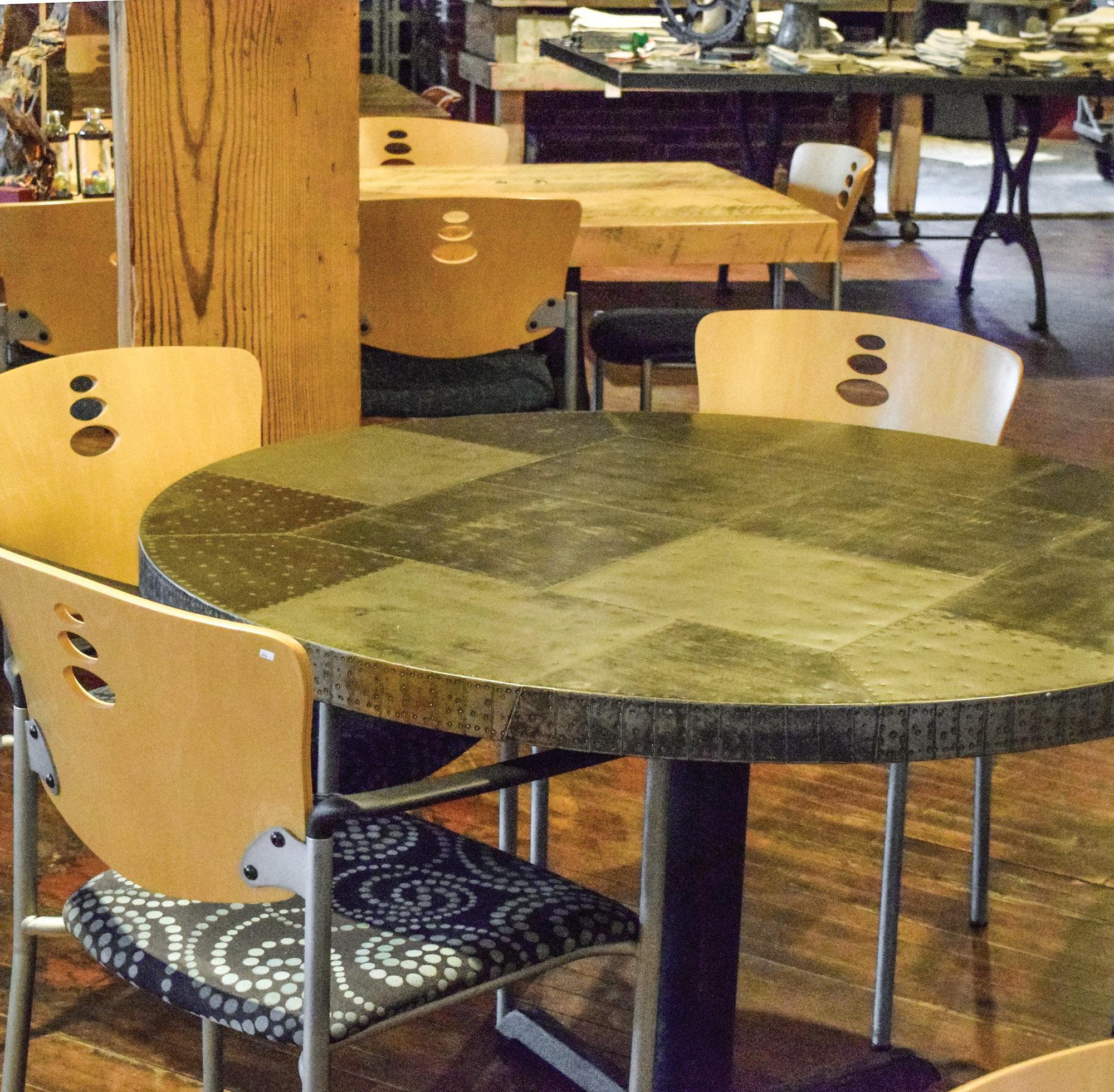 Metal Tabletop Patina