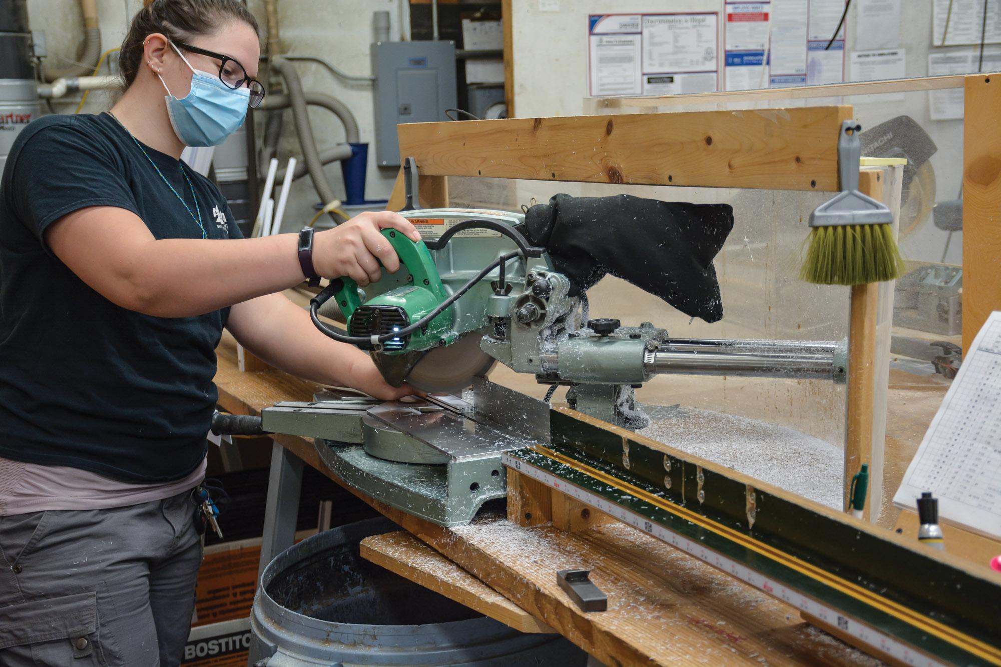 worker at Innerglass Windows factory