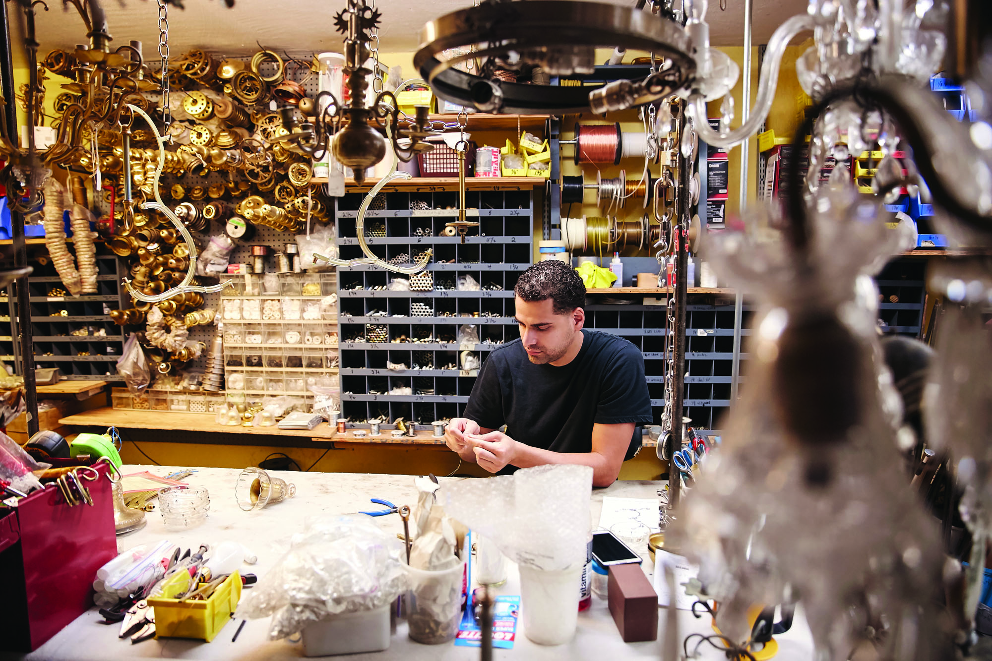 Appleton Antiques restoring antique lighting fixtures