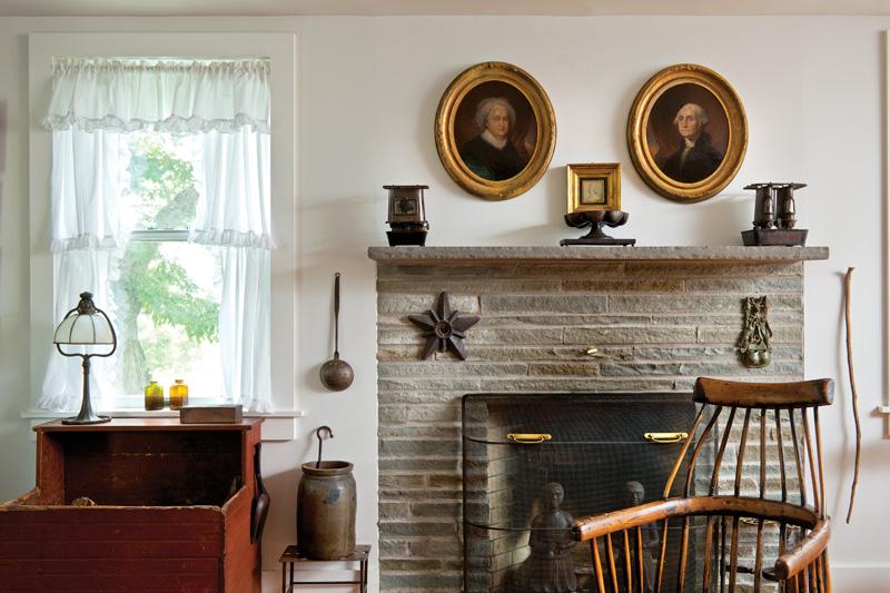 parlor, fireplace