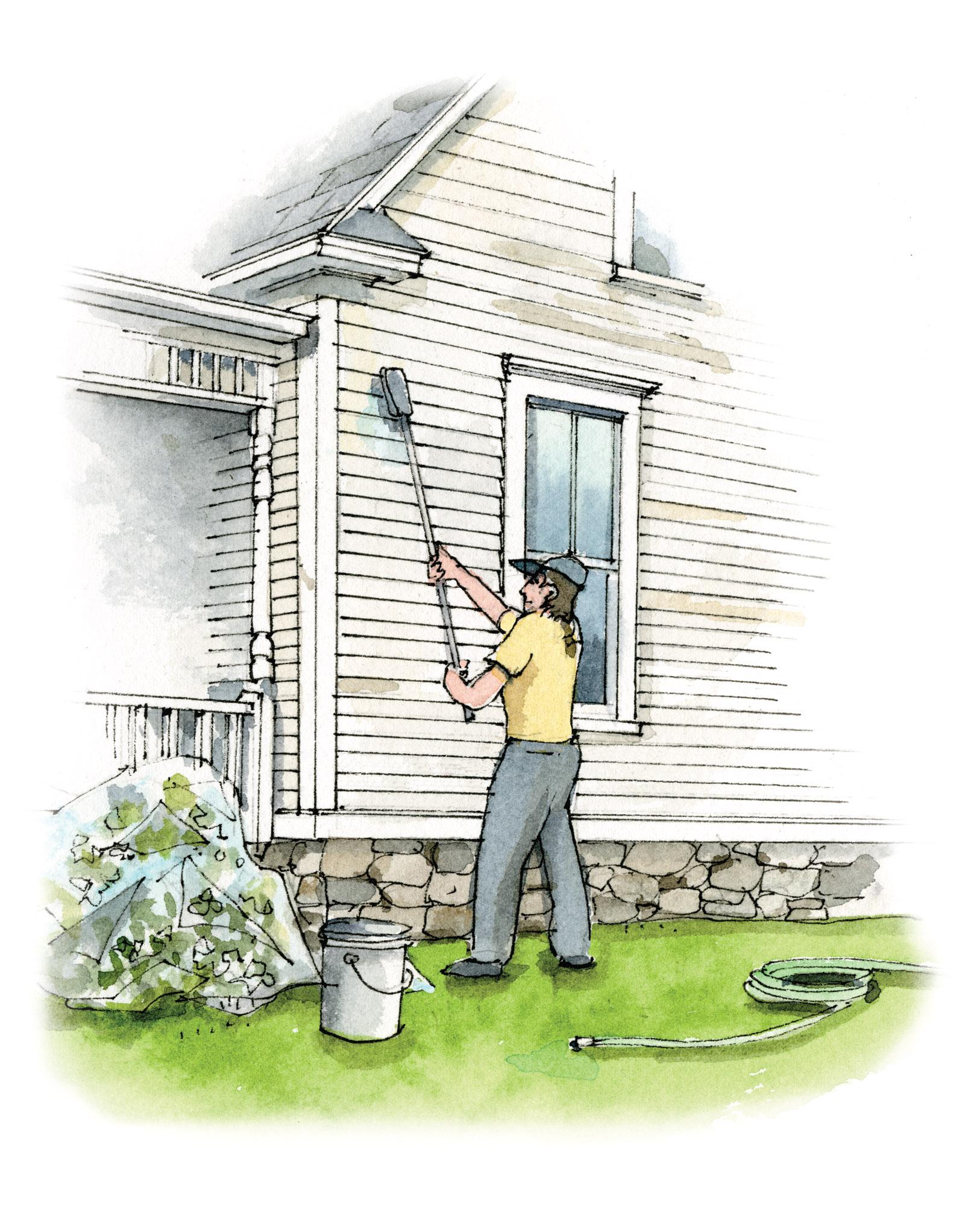 scrubbing exterior