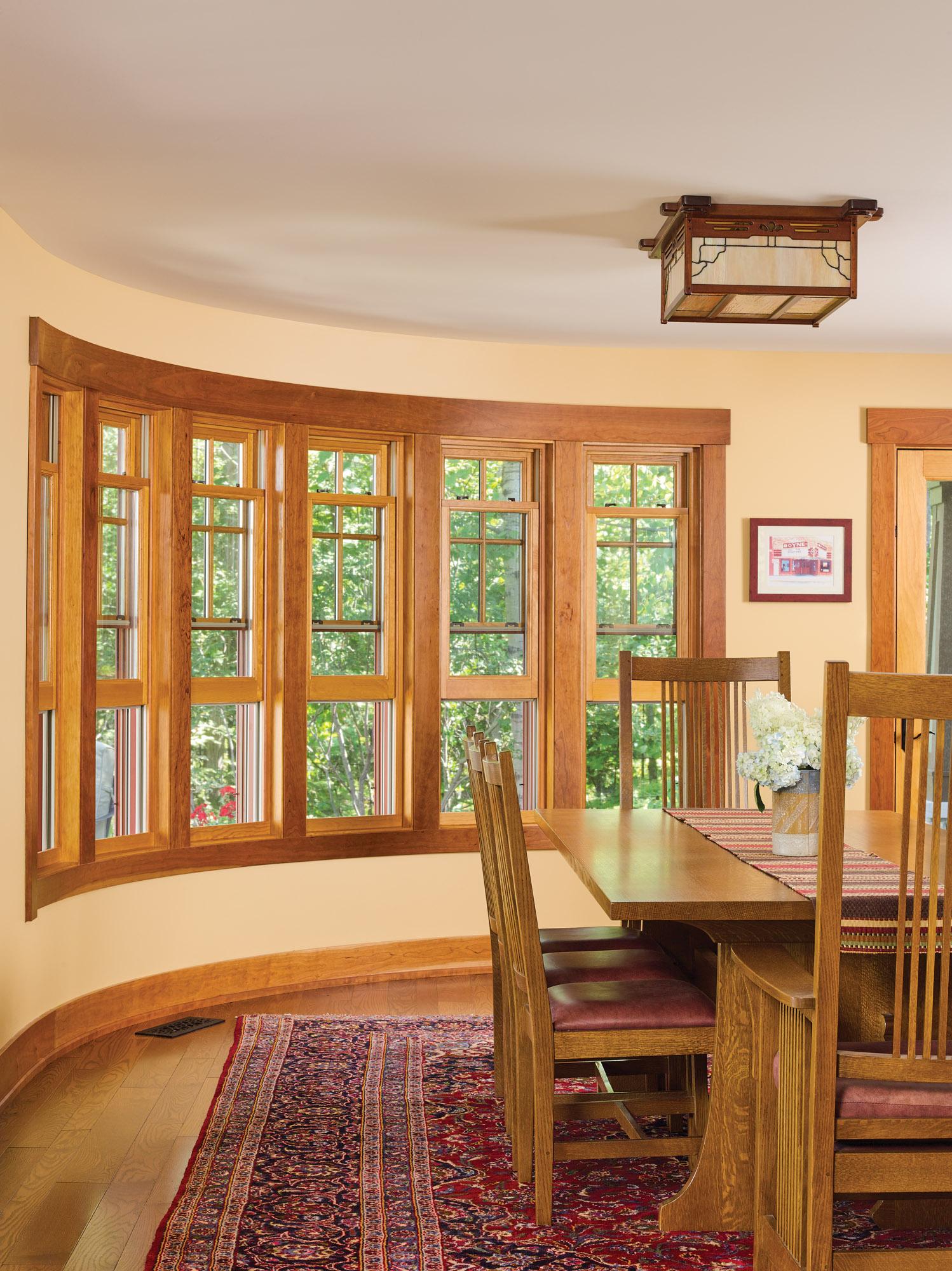 rounded bay windows