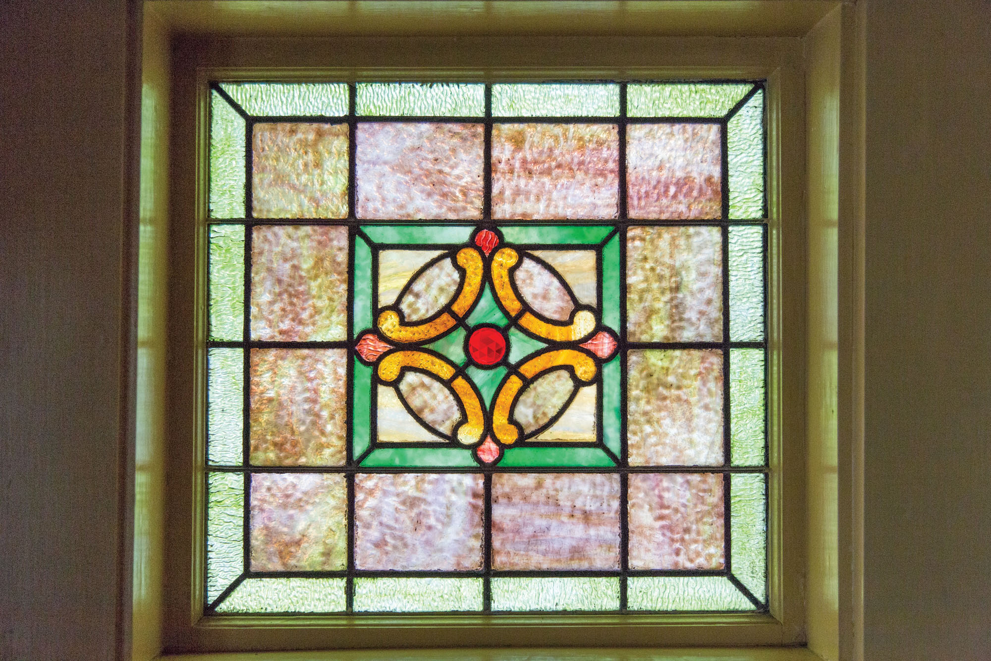 Arts & Crafts stained-glass window