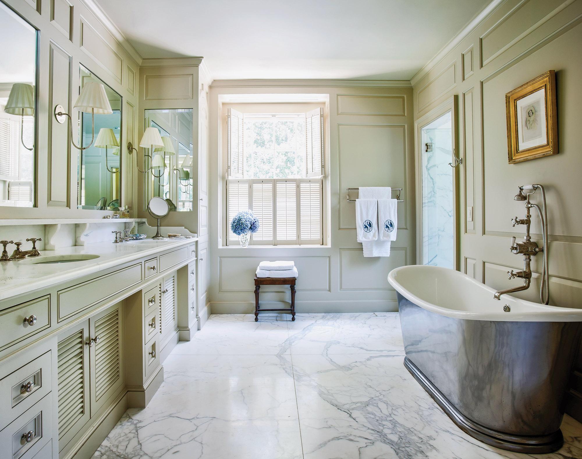 gray Carrara marble, Philip Trammell Shutze House