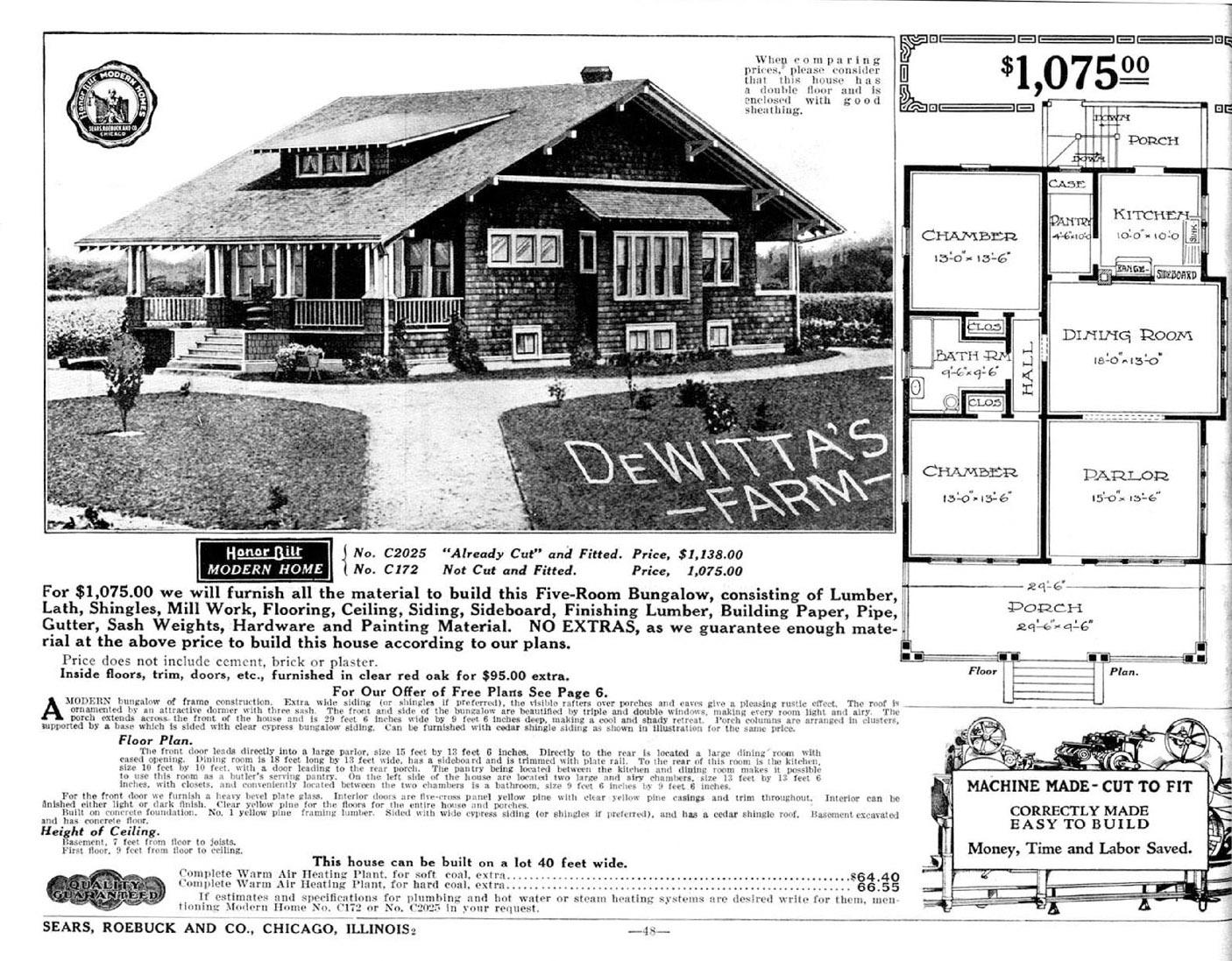 Sears Craftsman bungalow kit house