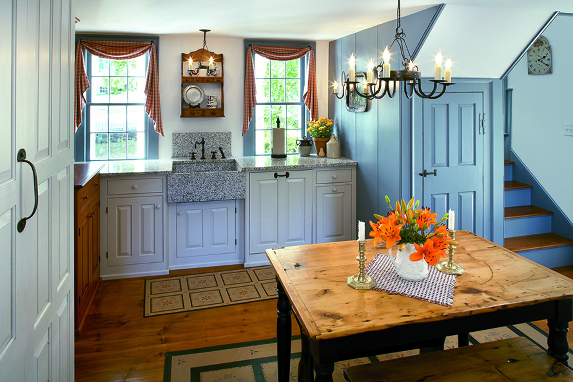 Tidy is the word for a new kitchen, modest in size but rich in quality, in a fine old Massachusetts house.
