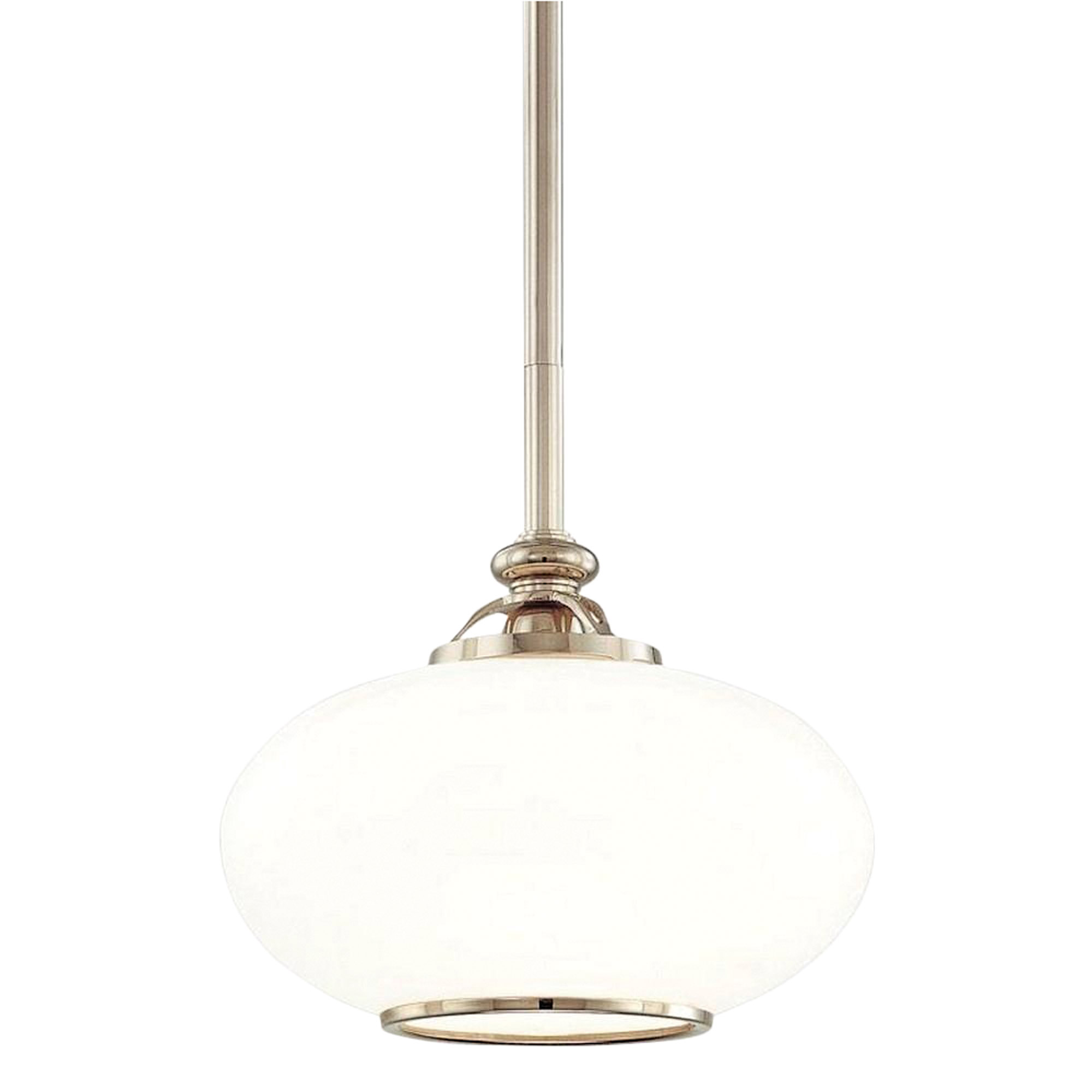 Hudson Valley Canton Polished Nickel Dome Pendant.