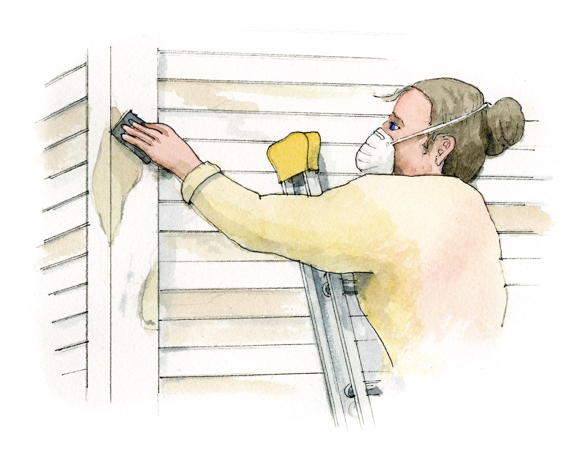 sanding exterior paint