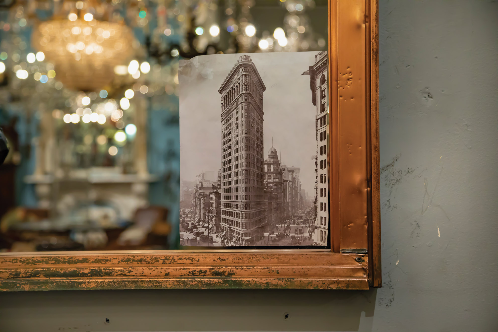 NYC's Flatiron Building vintage photo