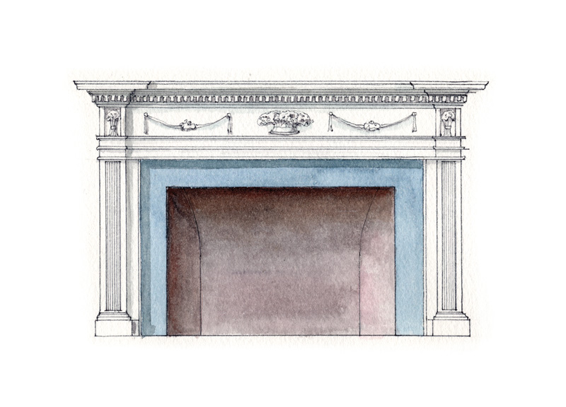 2. Federal fireplace