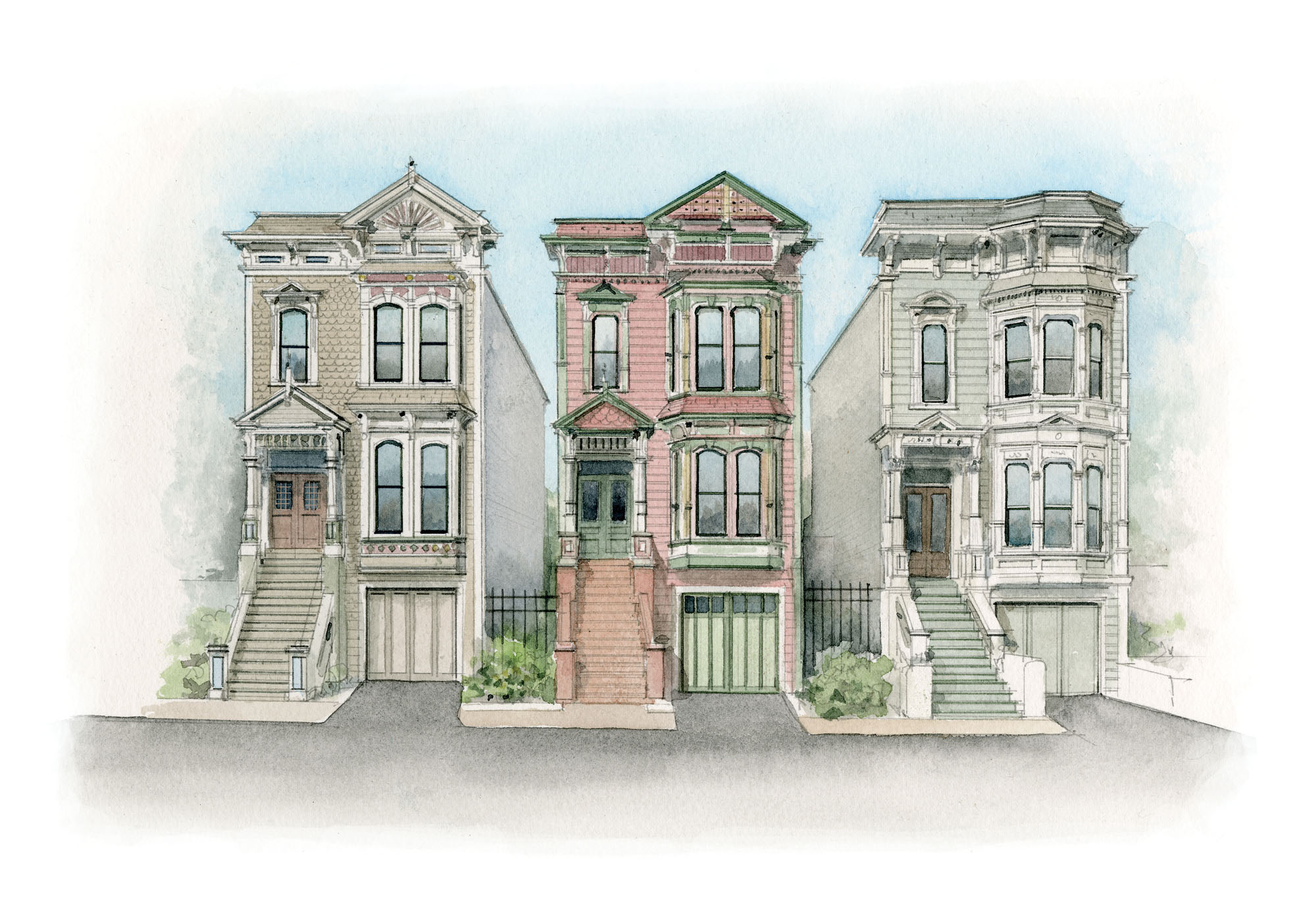 WOOD-FRAME ROW HOUSES, 1870s