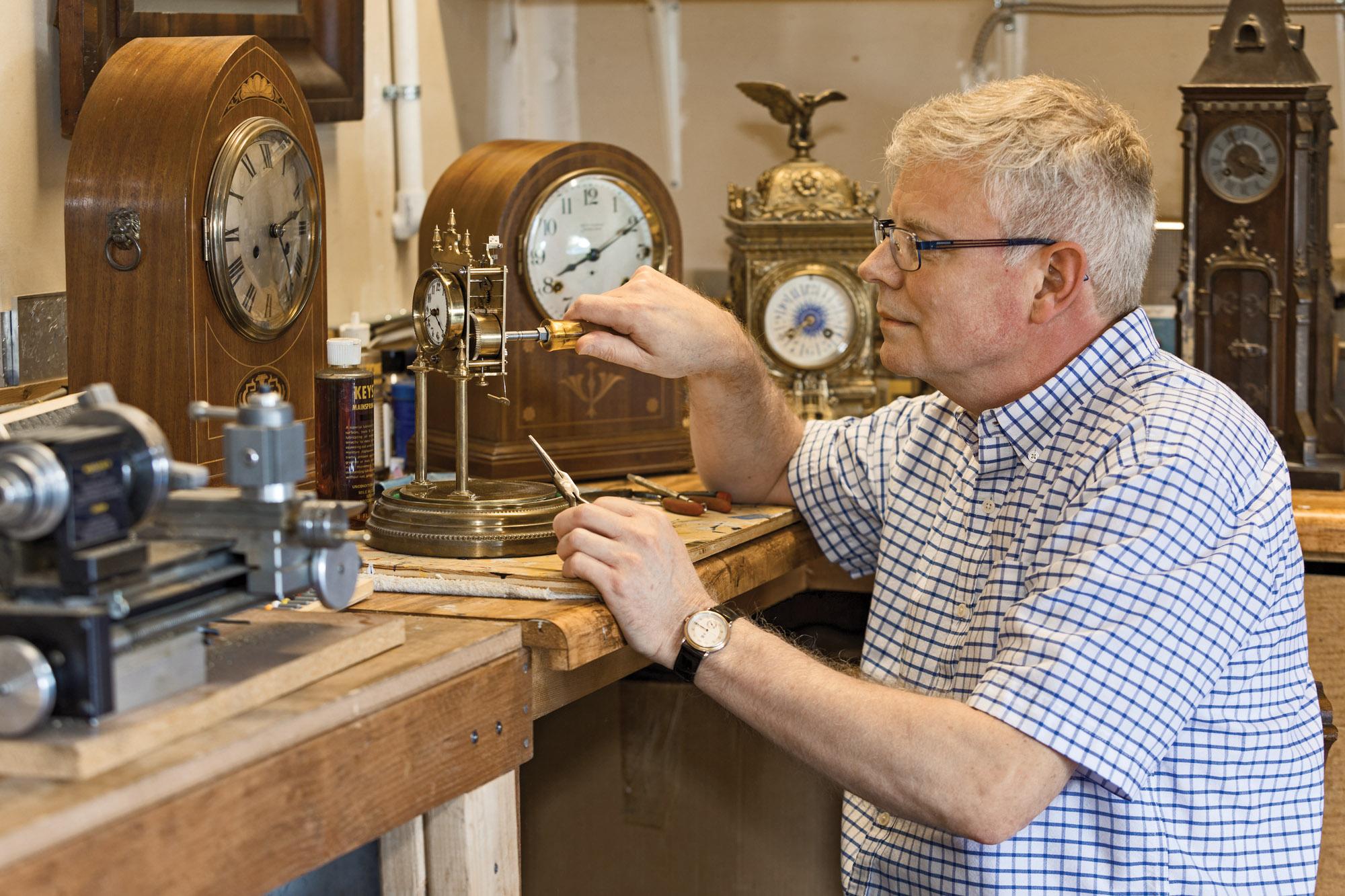 Clock restorer Craig Kerr