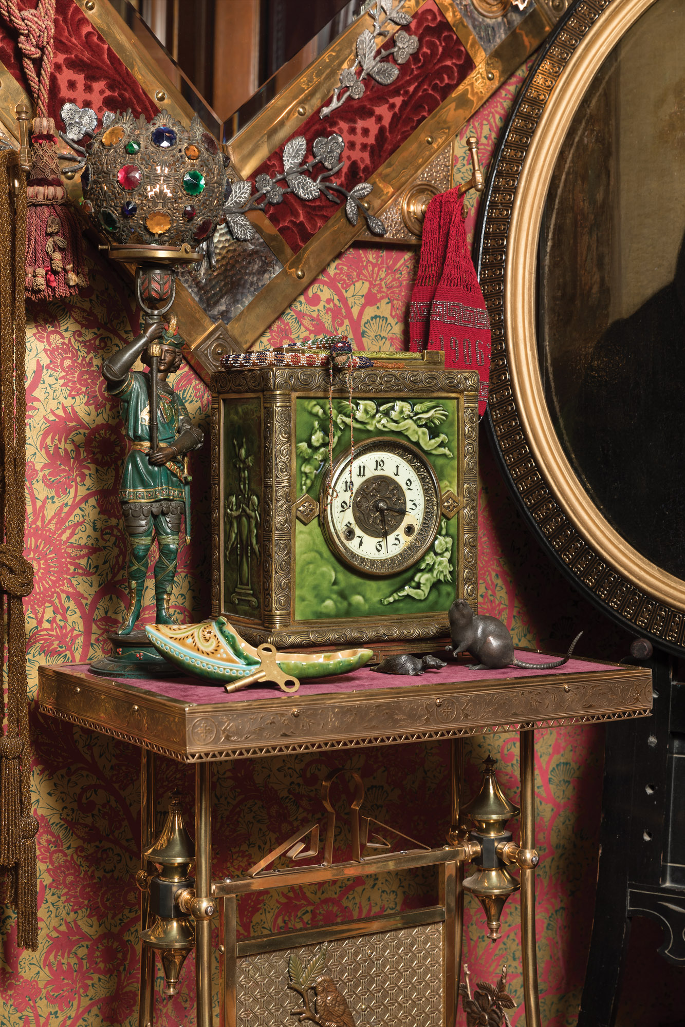 antique clock, Low Art Tile clock