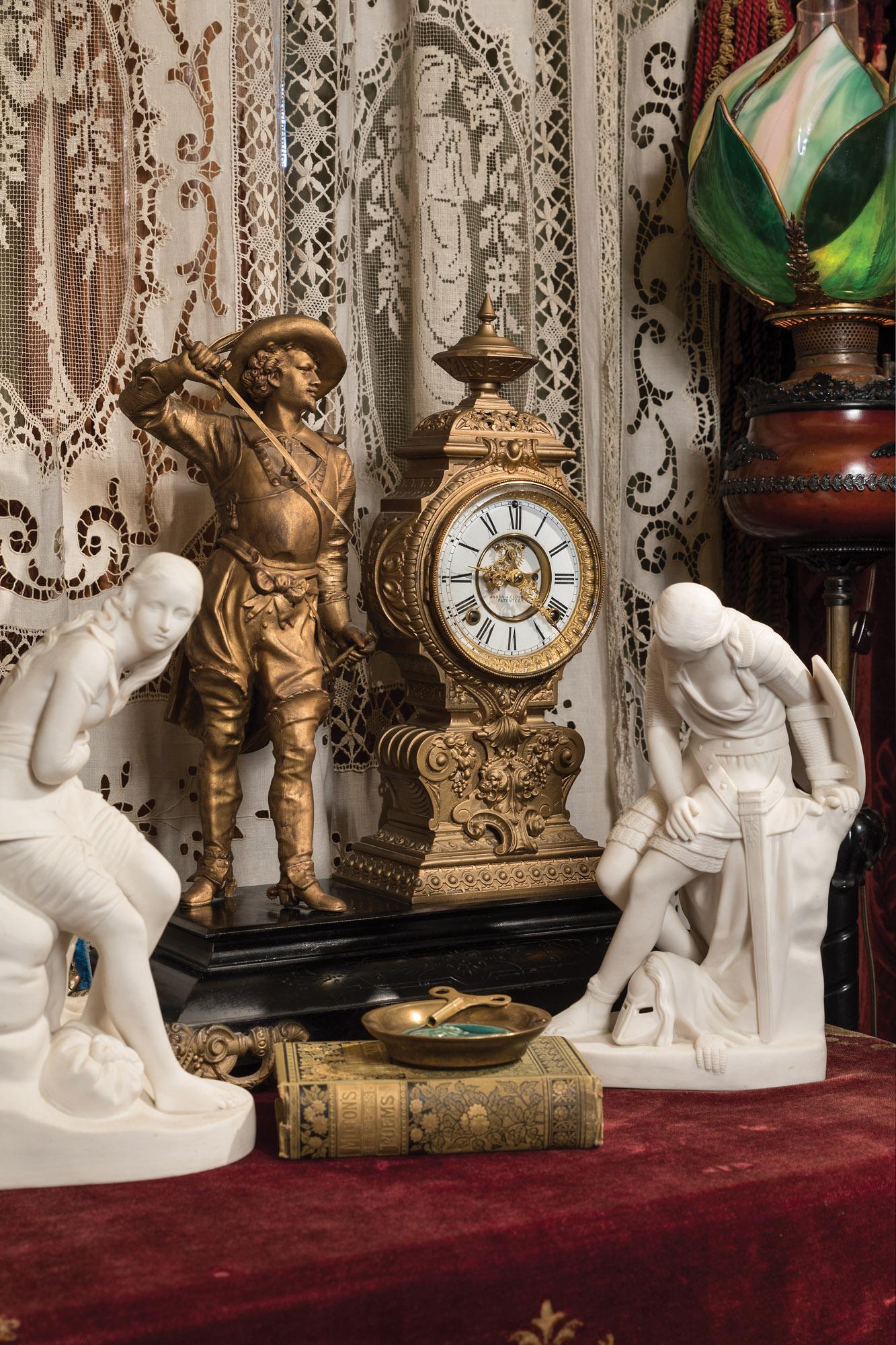American  figural clock