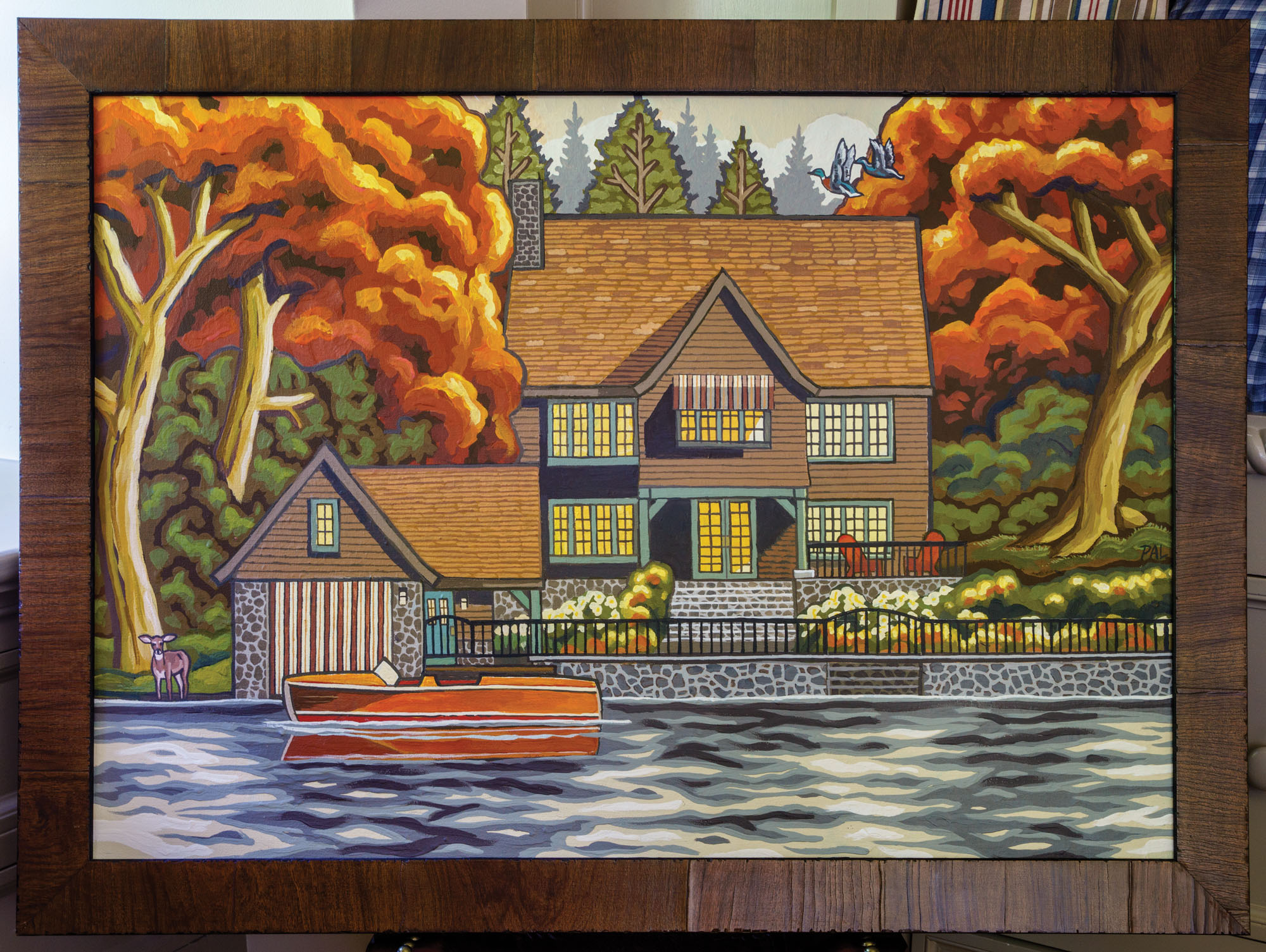 Pacific  Northwest artist Paul A. Lanquist's Lake Oswego