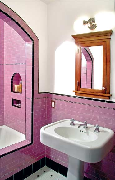 purple Spanish bathroom
