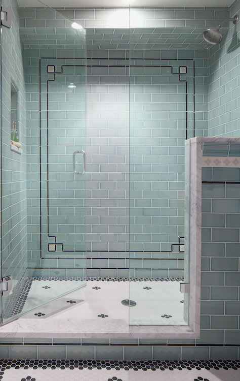 tile and marble shower