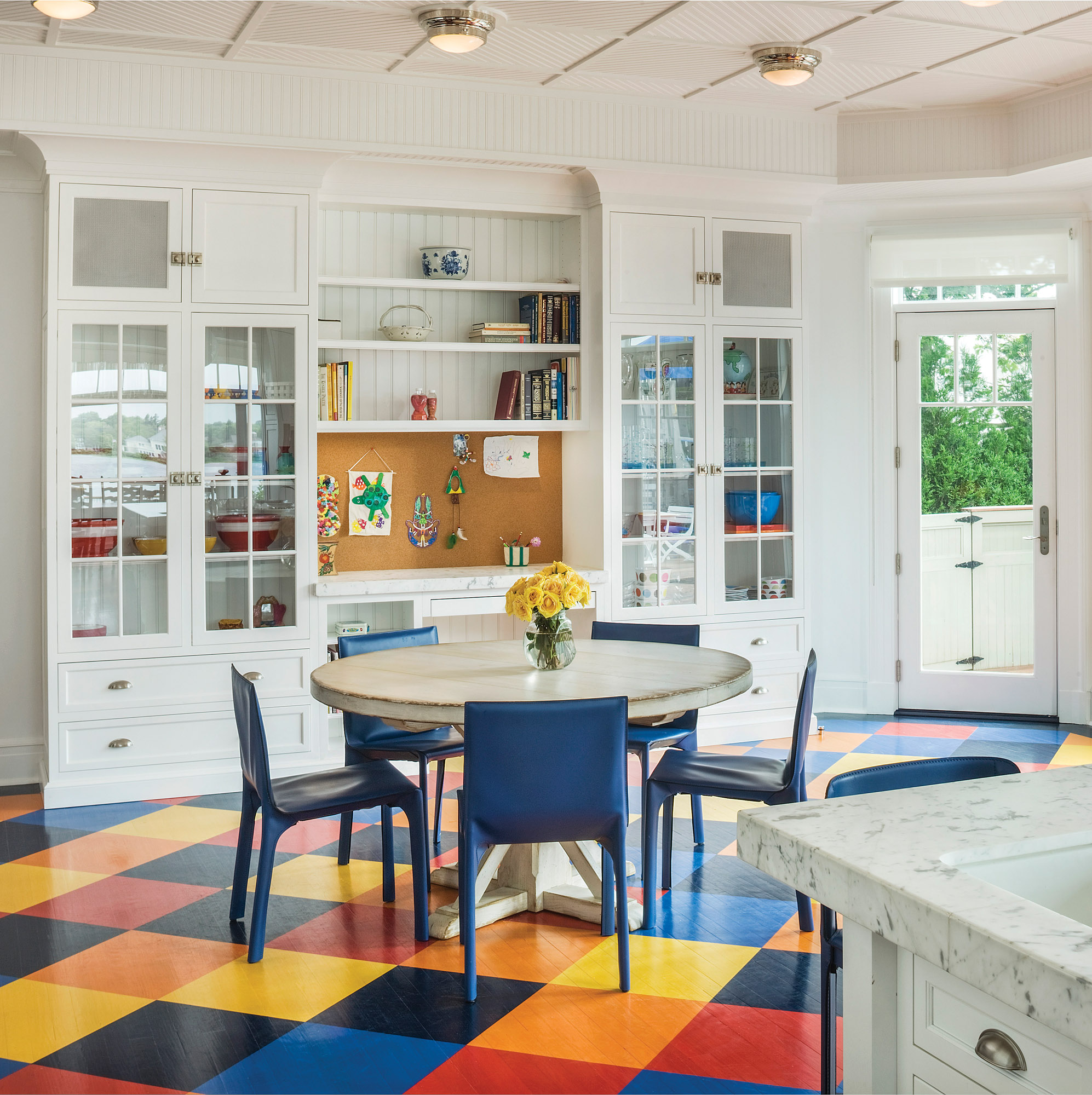 Colorful Kitchen Floor