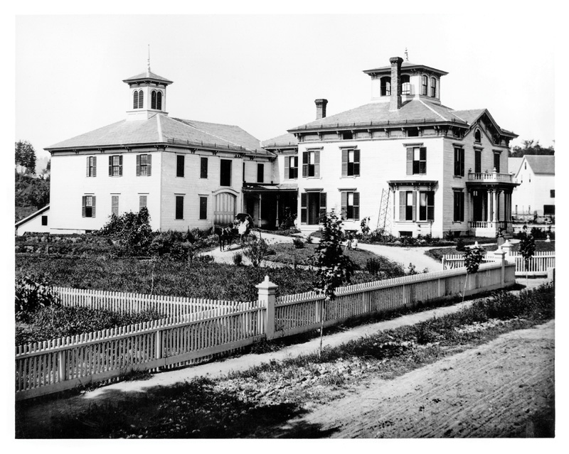 Before image of the mansion.