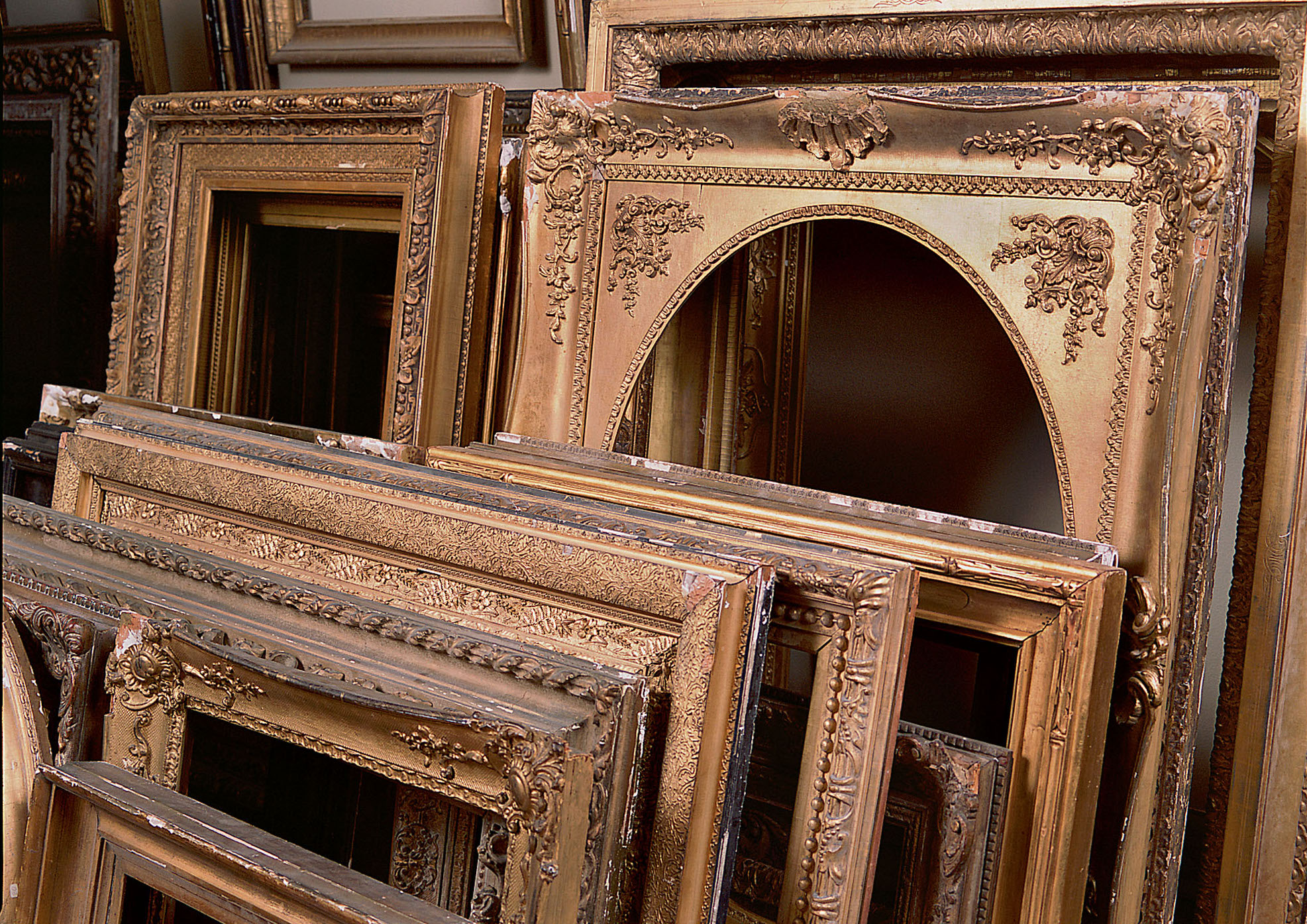 Well crafted  and nicely aged, many antique frames are themselves works of art.