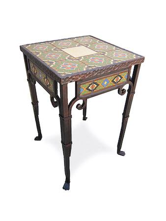 Spanish Revival end table, Bushere & Son Iron Studio