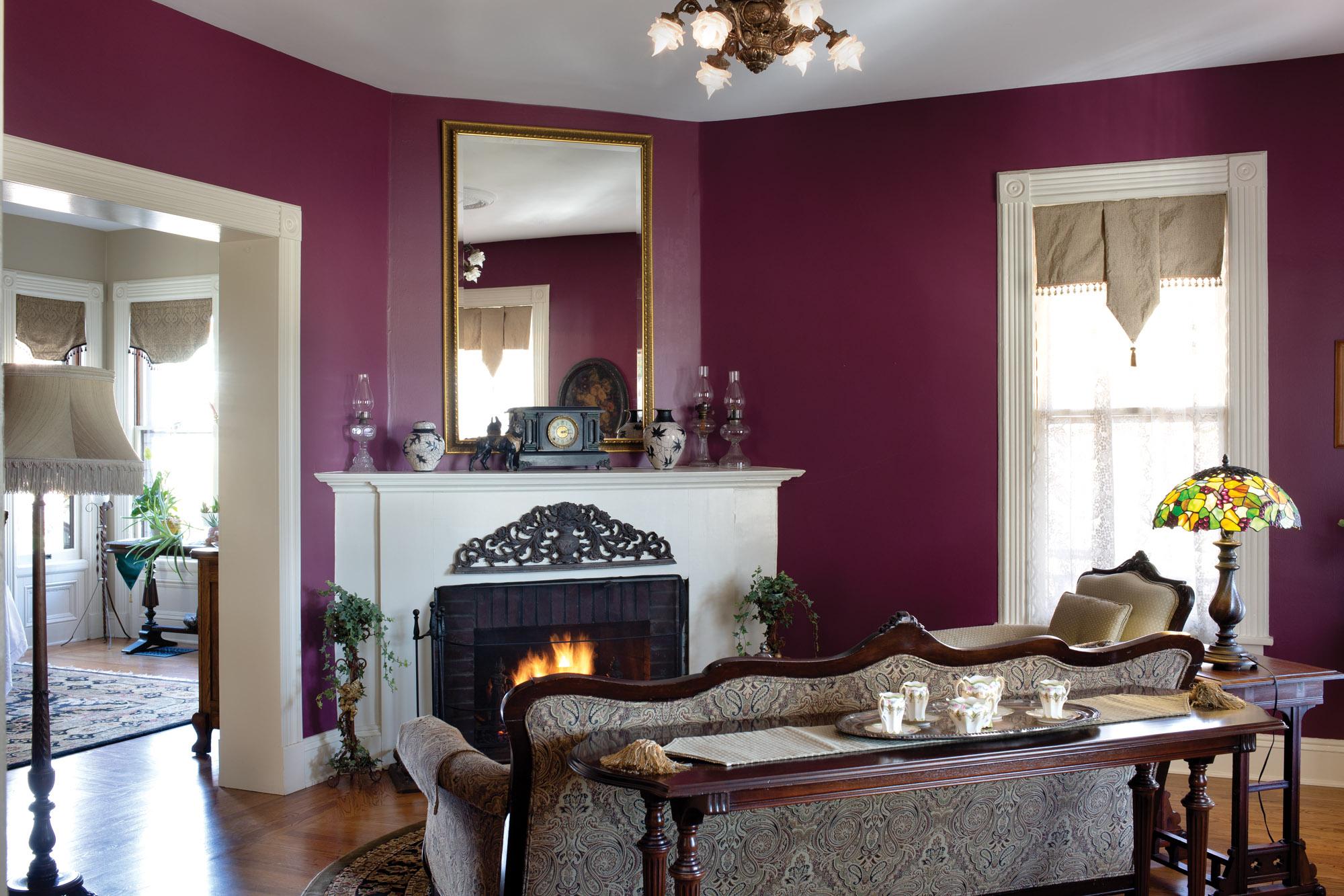 restored Queen Anne living room