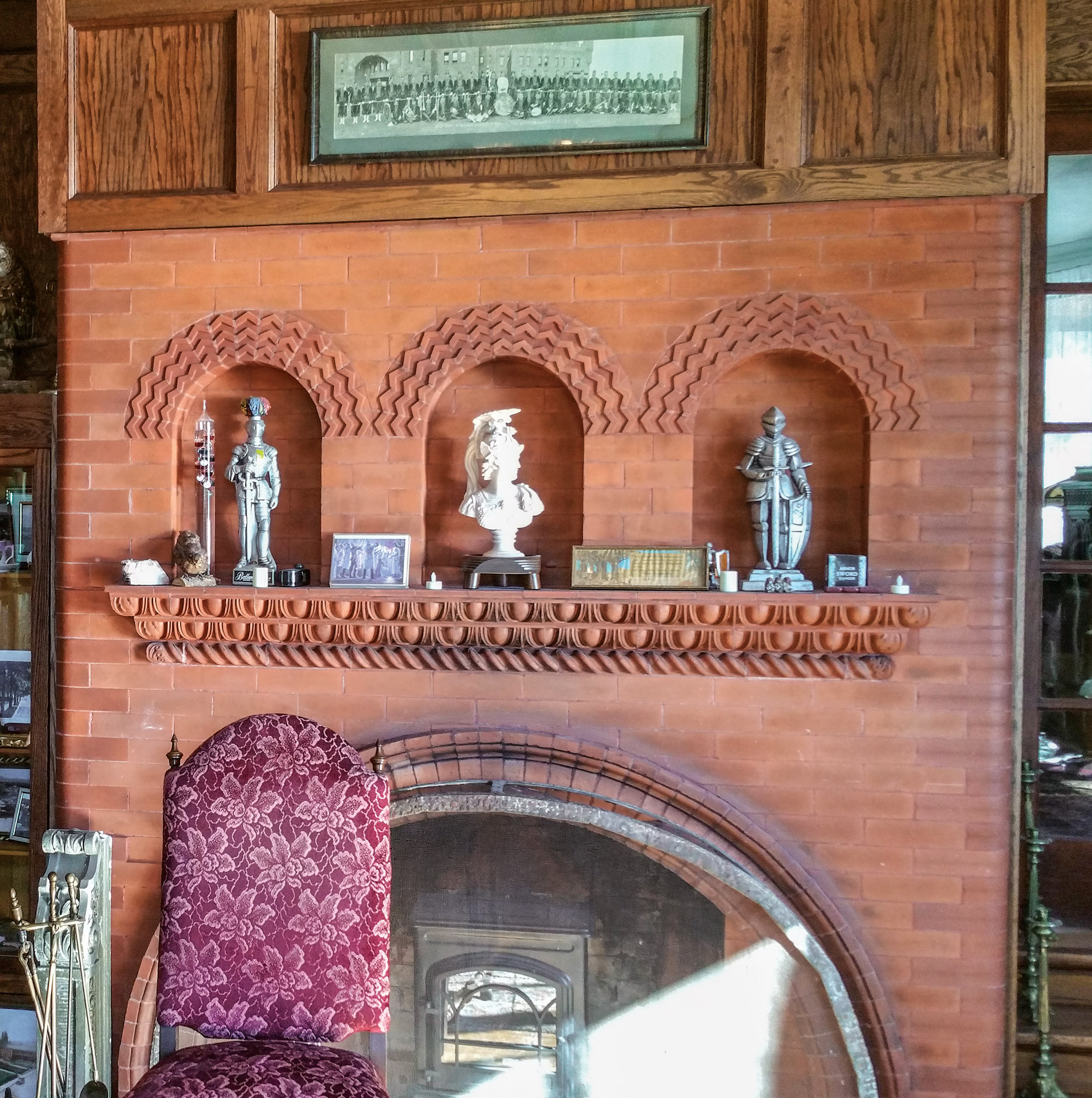 Romanesque fireplace