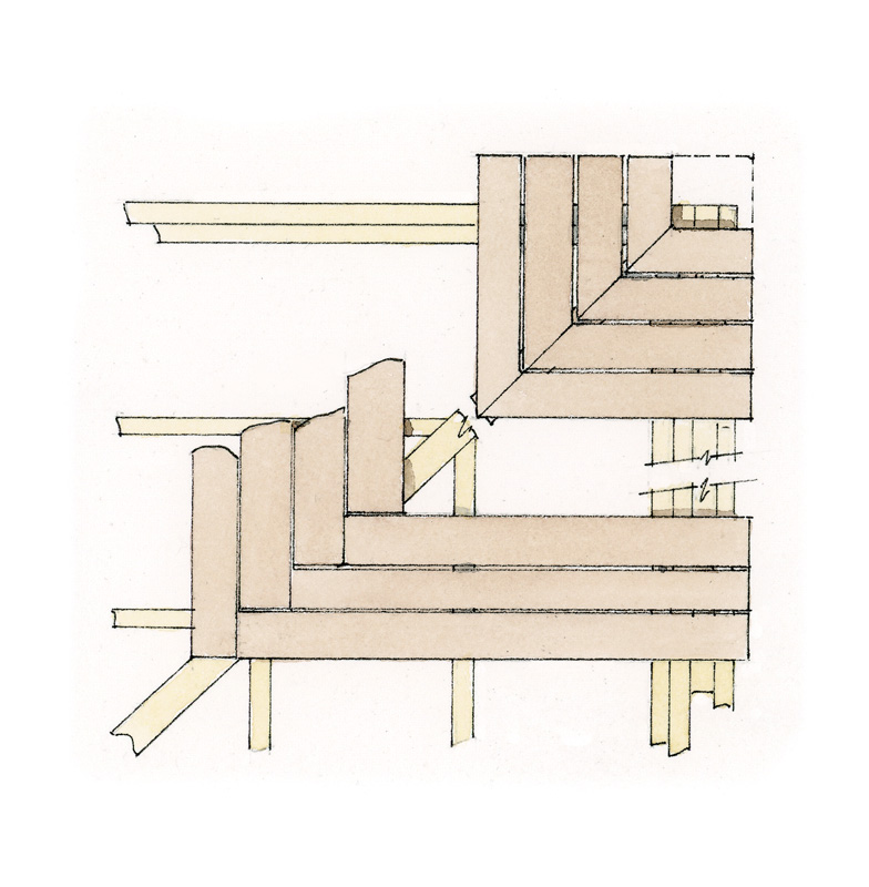 Miter joints & ringbone joints (Illustration: Rob Leanna)