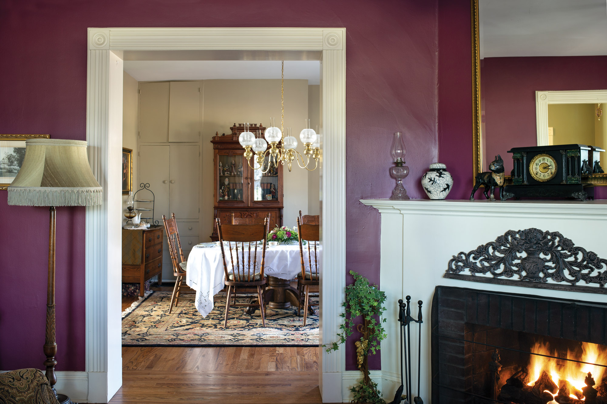 Queen Anne fireplace