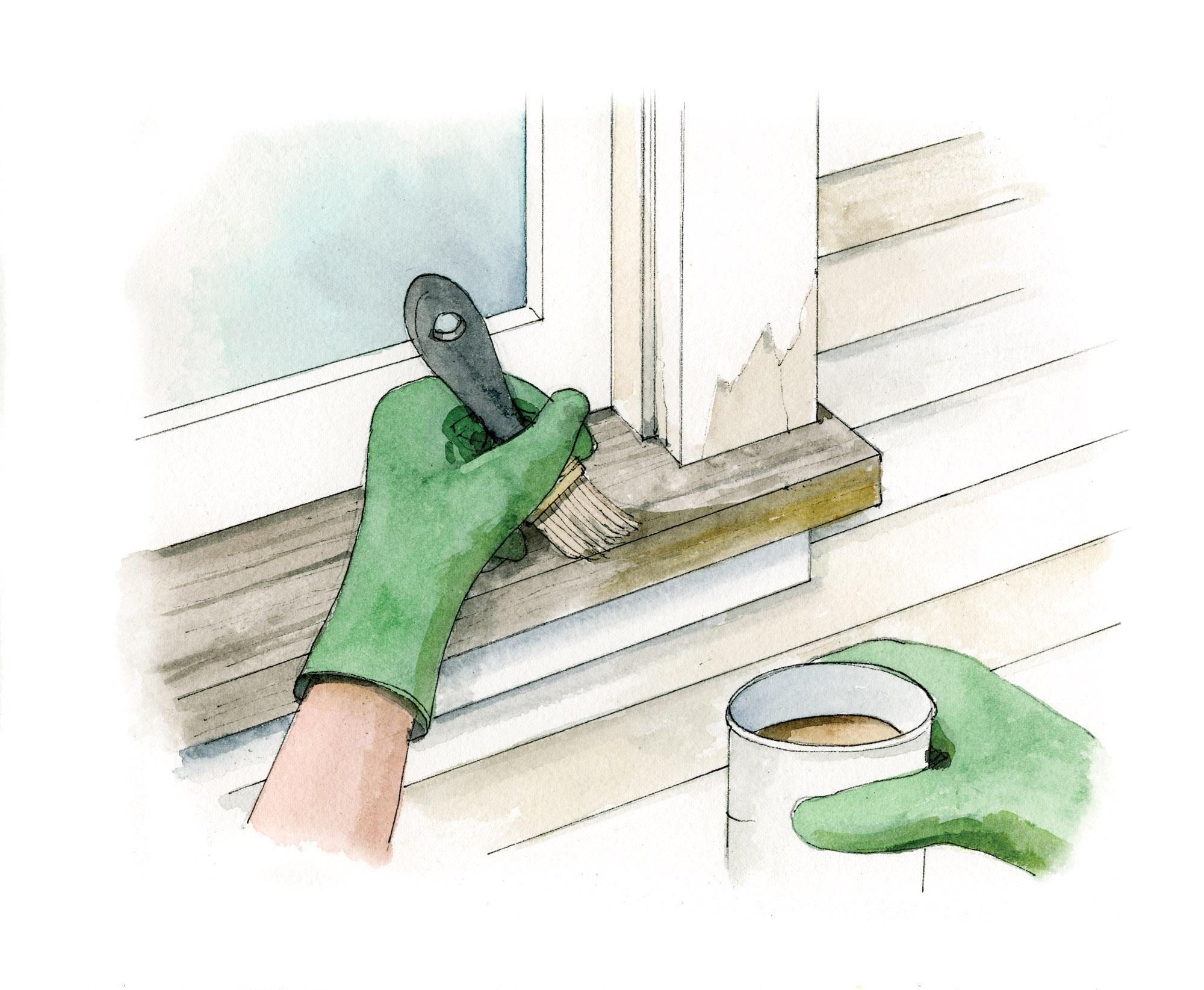 painting windowsill