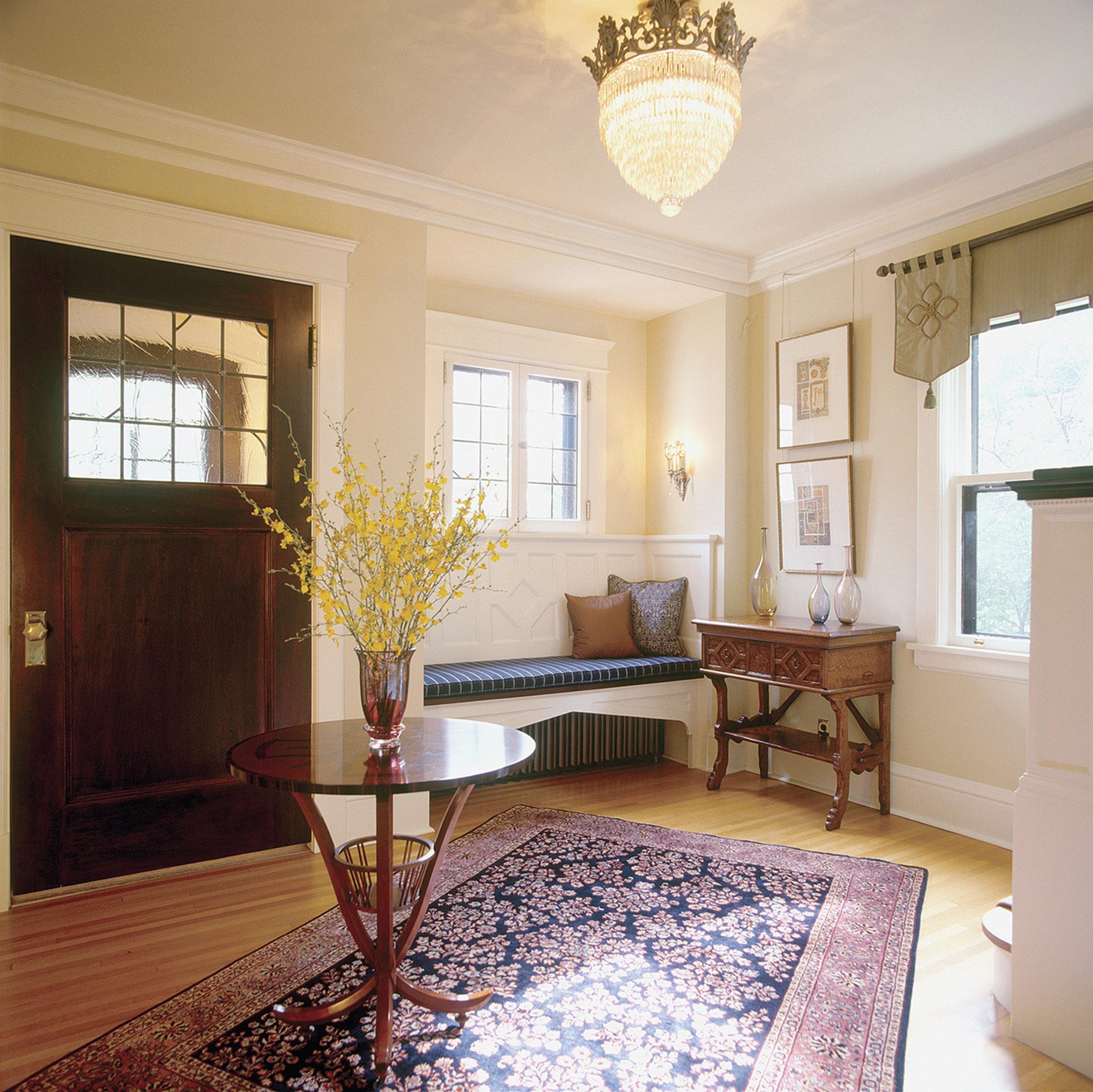 formal Tudor entryway