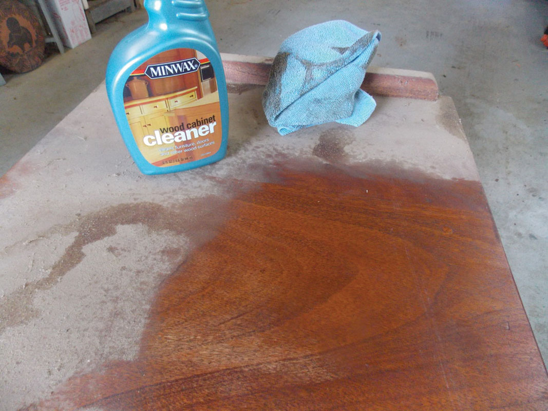 To protect the finish of cabinets and other woodwork, use cleaners specifically formulated for cabinets.