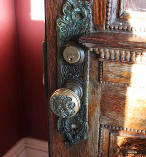 Antique doorknob, renovating old houses
