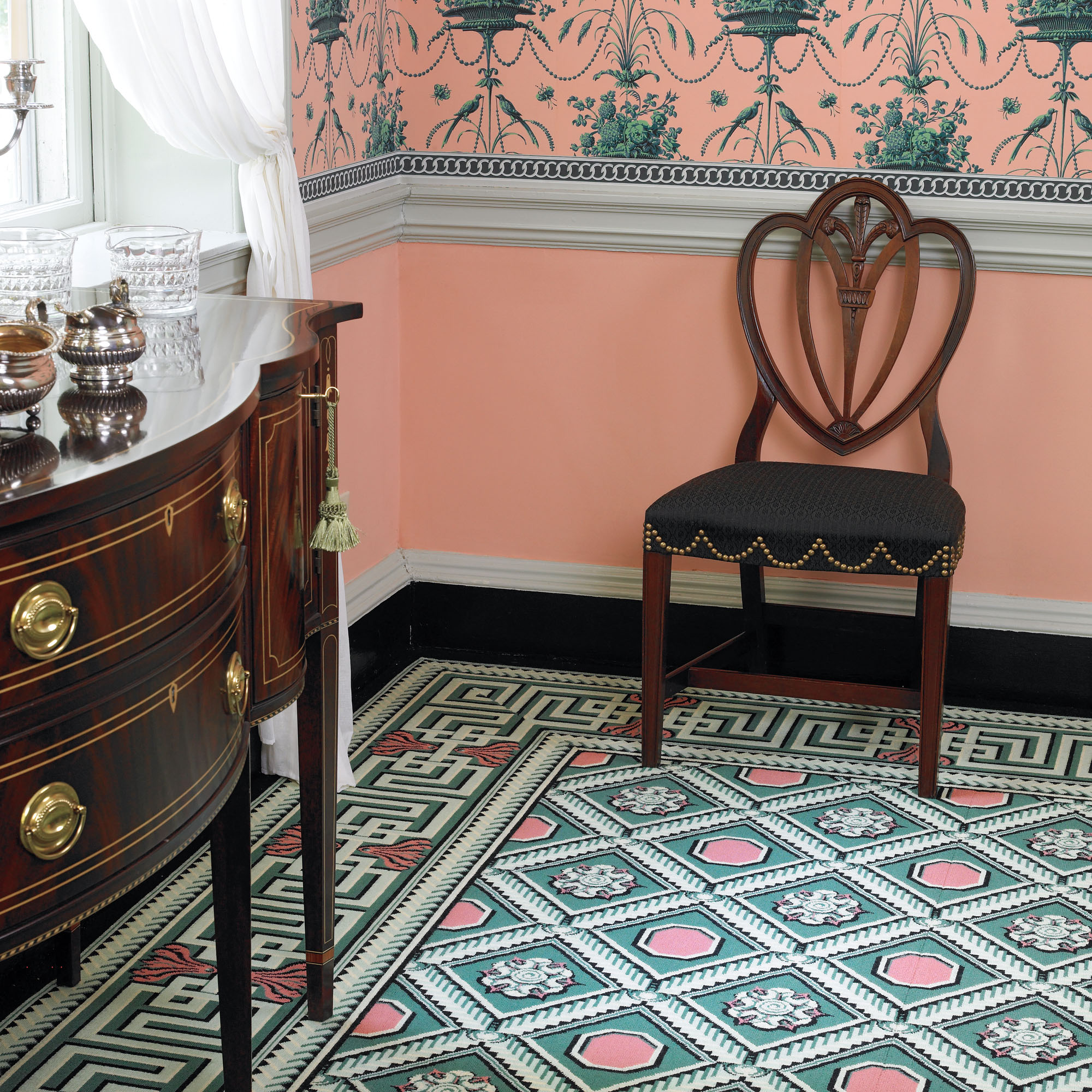 1803 reproduction Brussels carpet, from J.R. Burrows