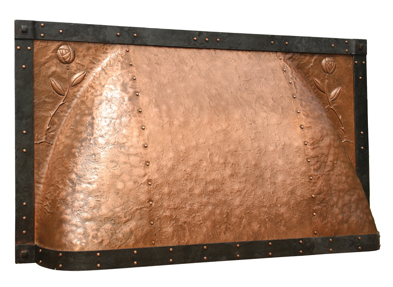 4. Copper fireplace hood